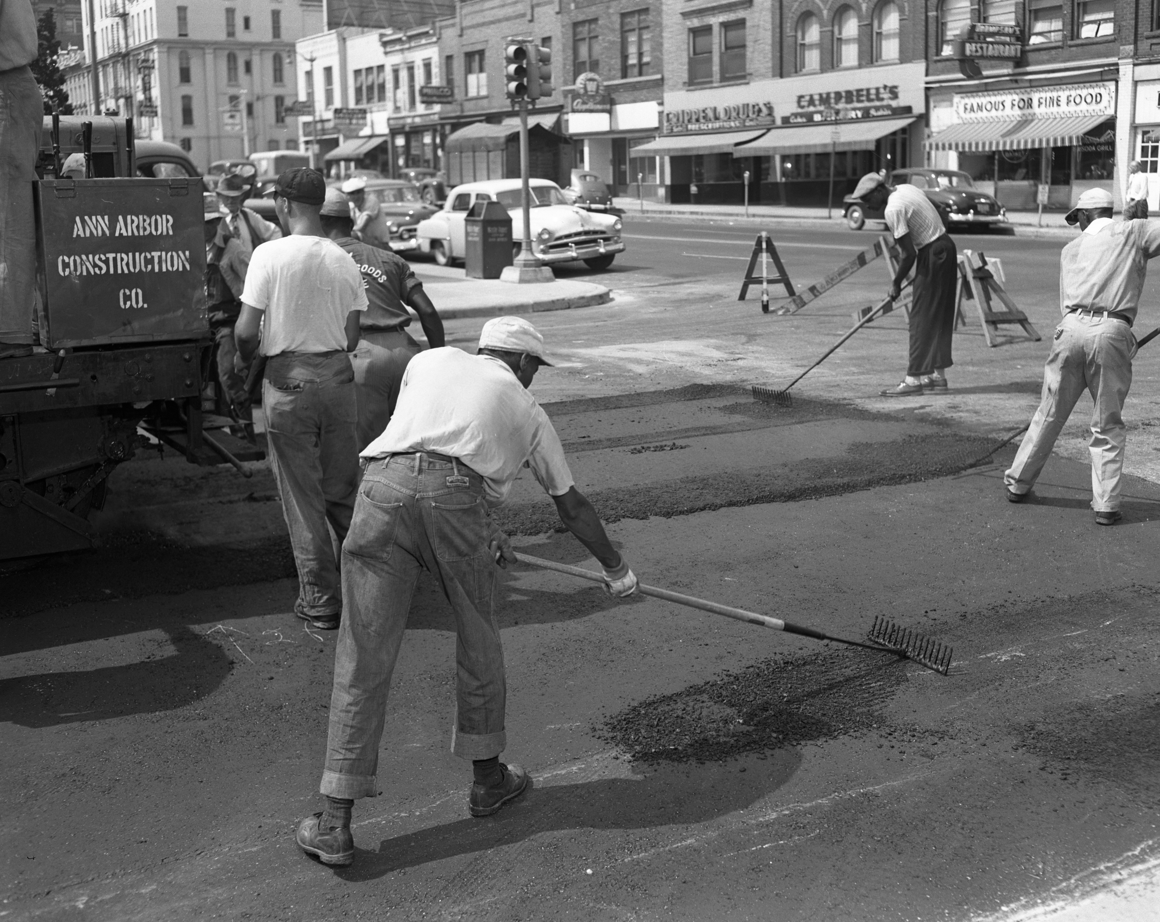 Street Repair, Catherine at Main St., June 1952 image