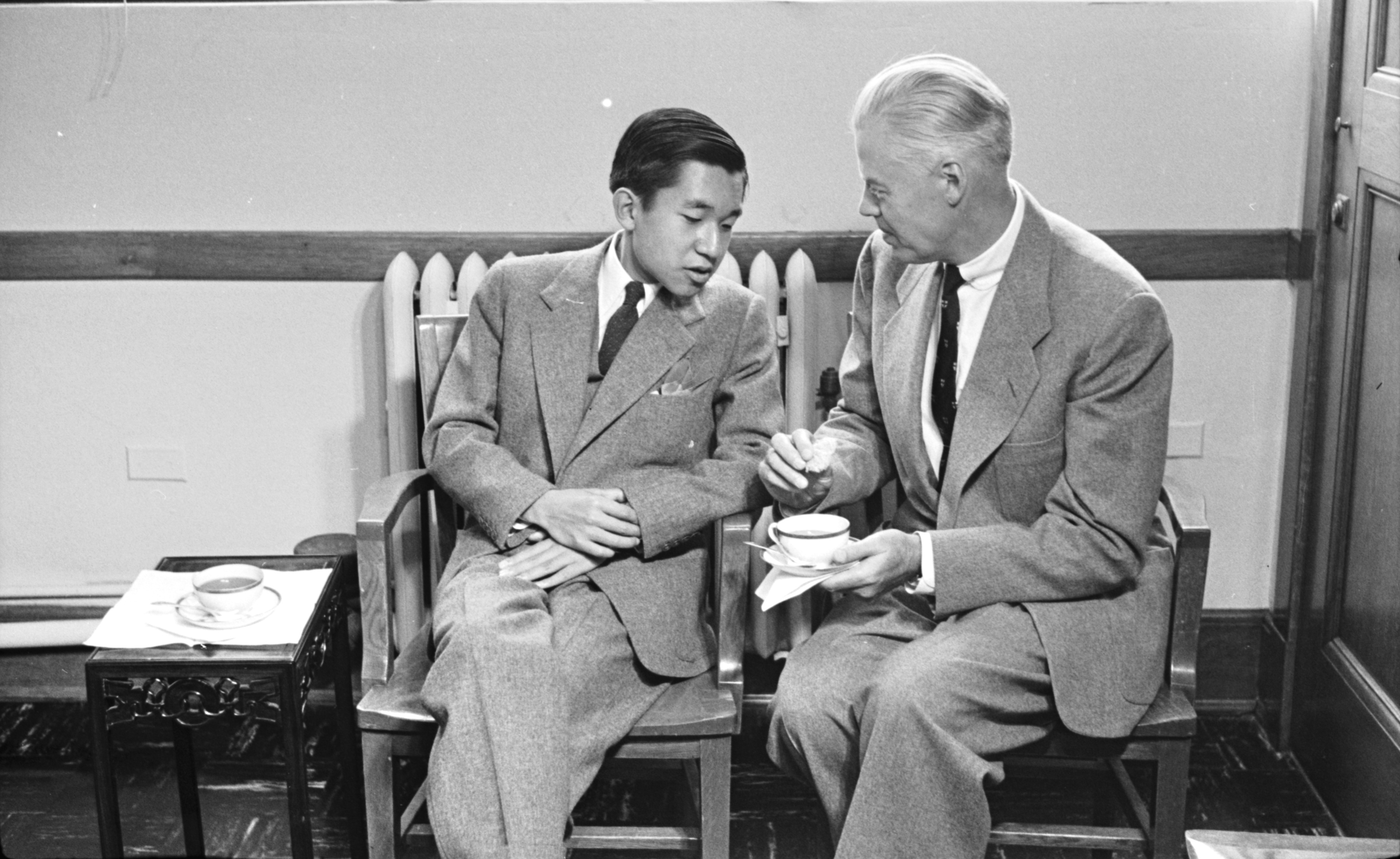Image from Japanese Crown Prince Akihito Visits the University of Michigan, September 1953
