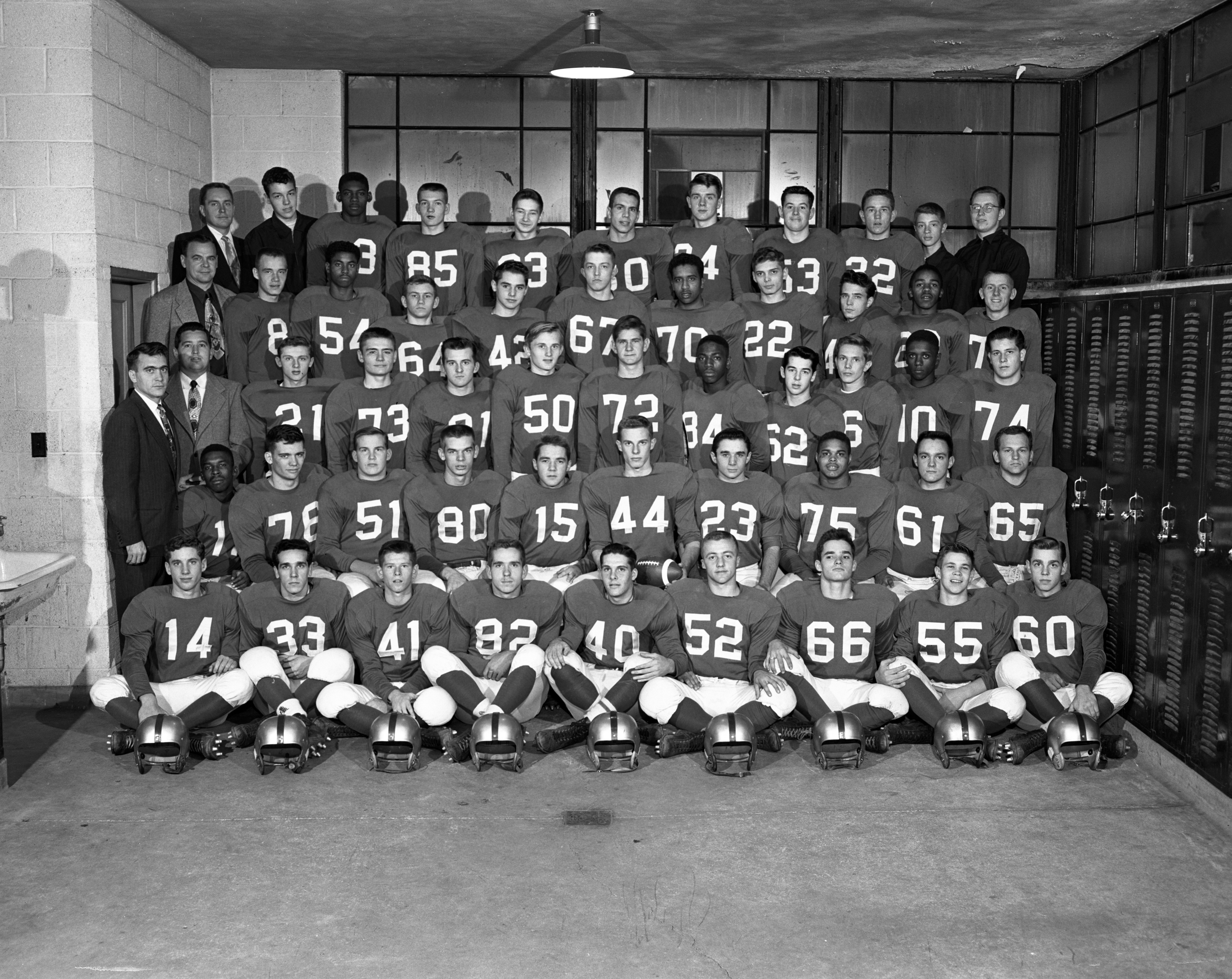 Ann Arbor High School Football Team Wins Six-A League Championship, October 1953 image