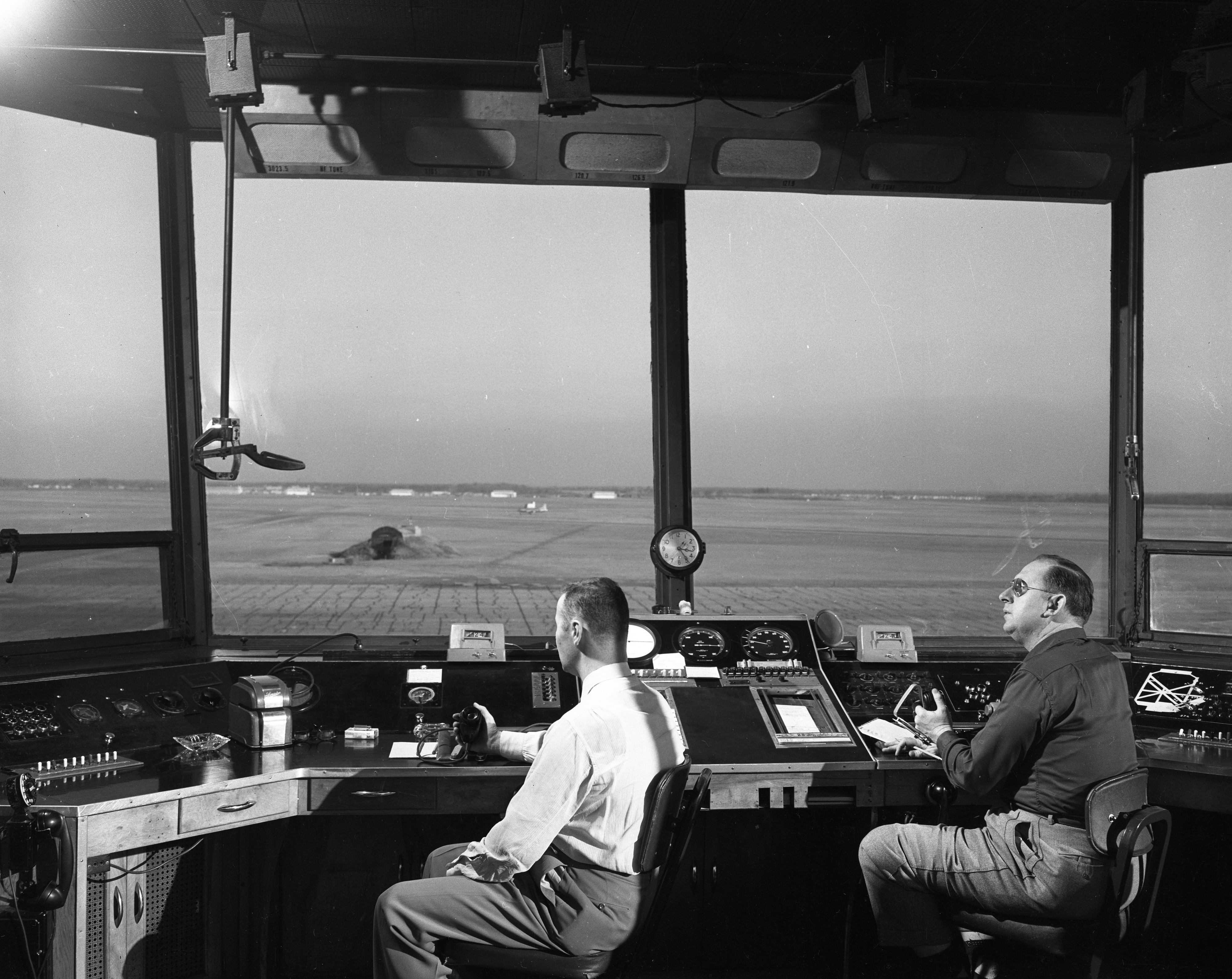 Control Tower at Willow Run Airport, February 1954 image