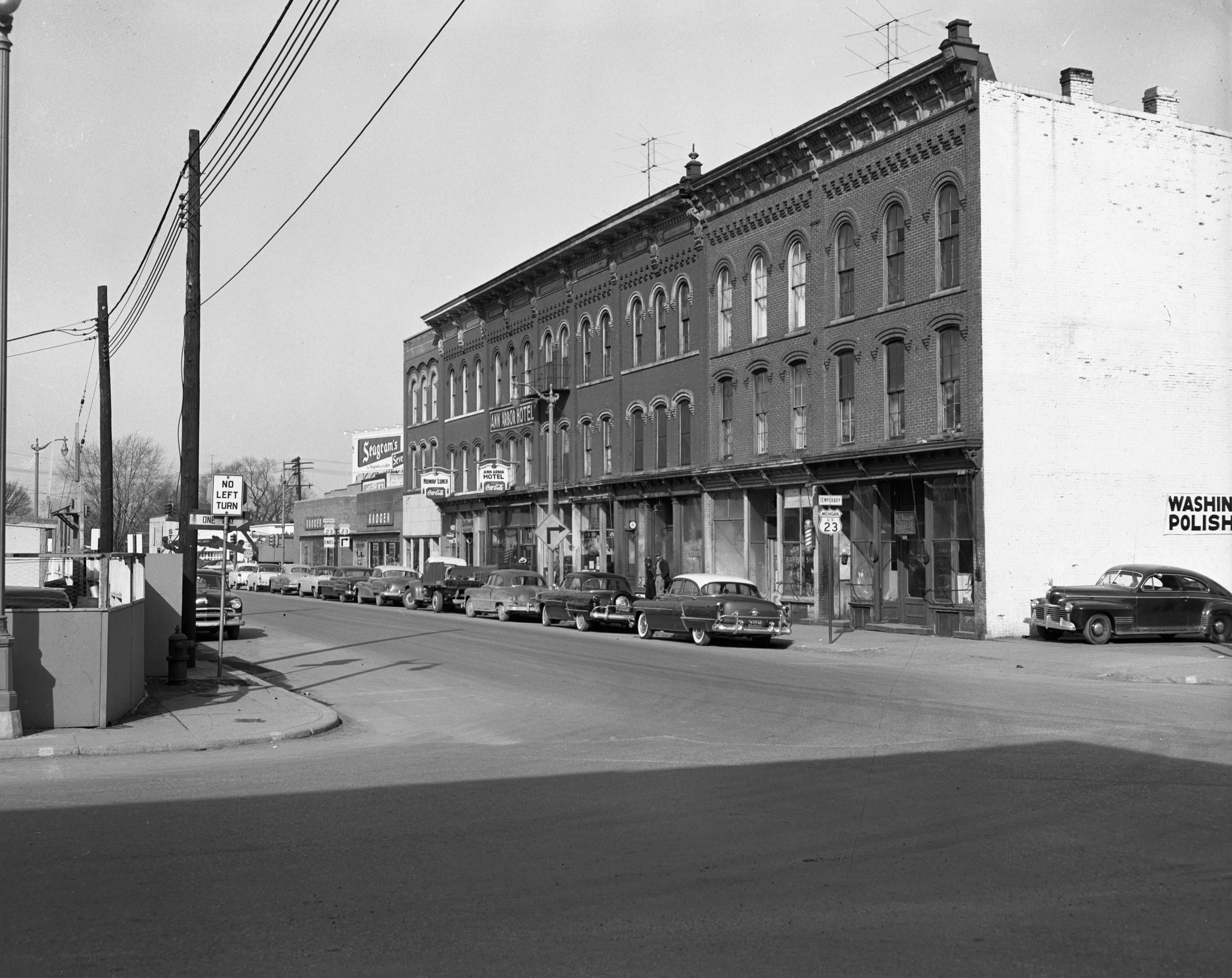 100 Block of E. Ann St., March 1954 image
