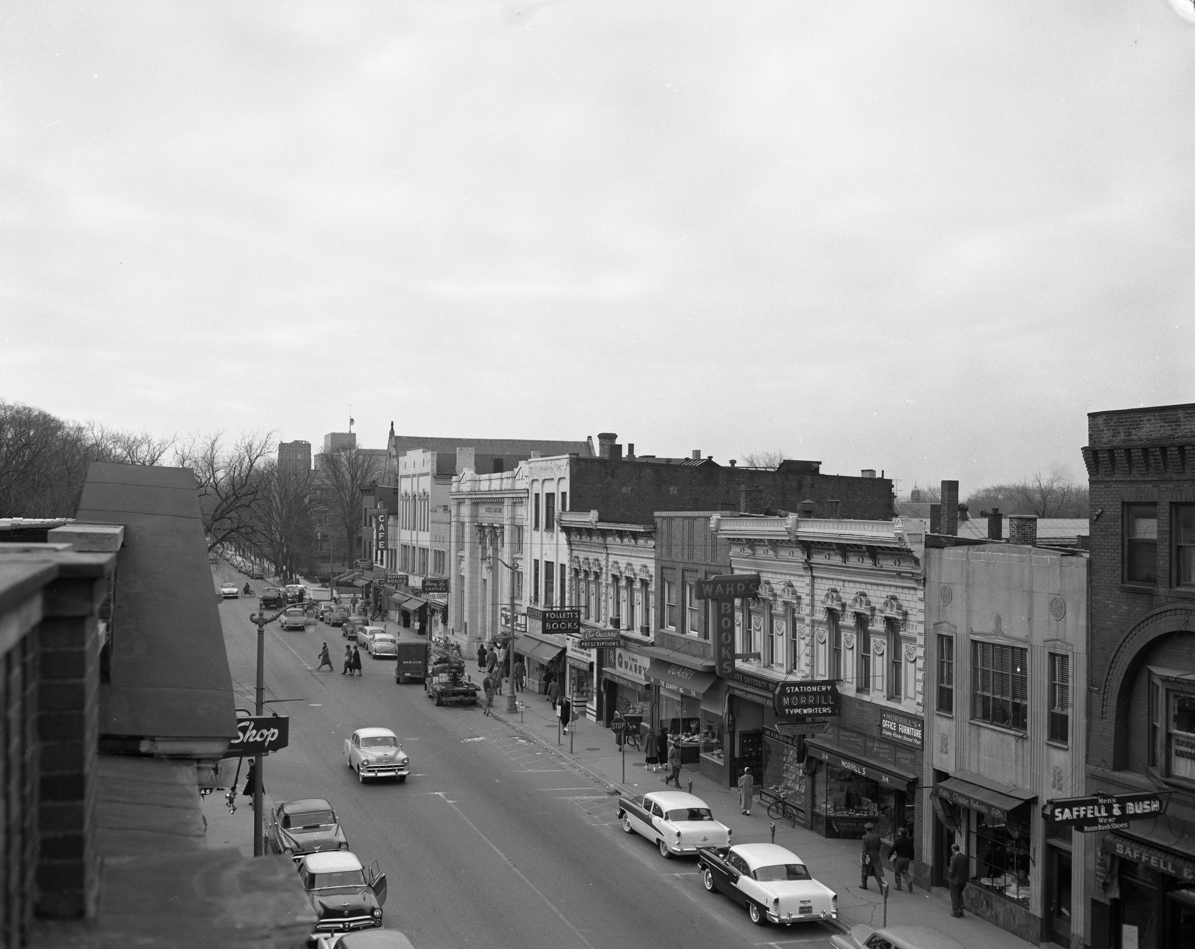 State Street business section from the roof of Wagner's, October 1955 image