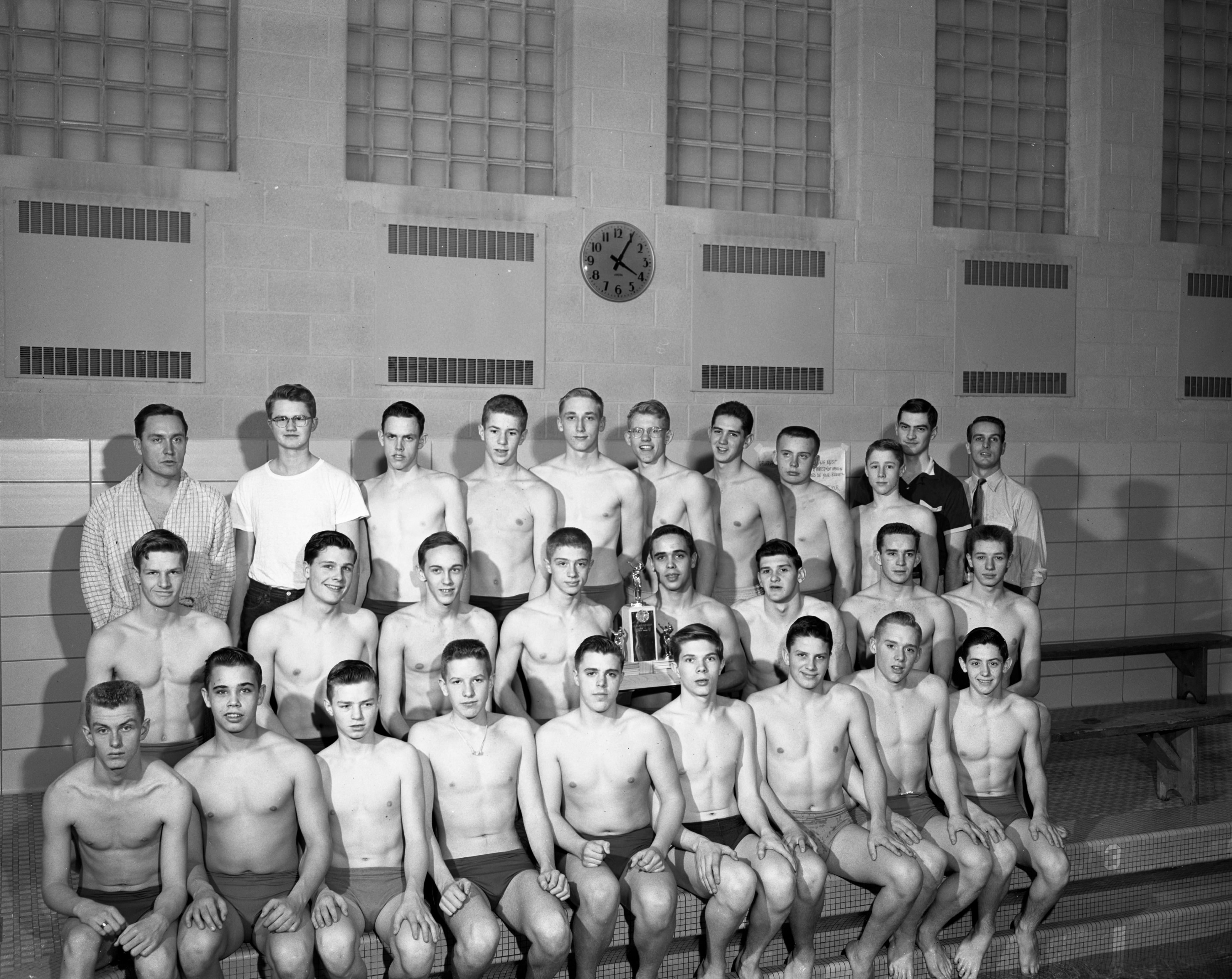 Ann Arbor High School Pioneers Win School's First-Ever Six-A League Championship, March 1956 image