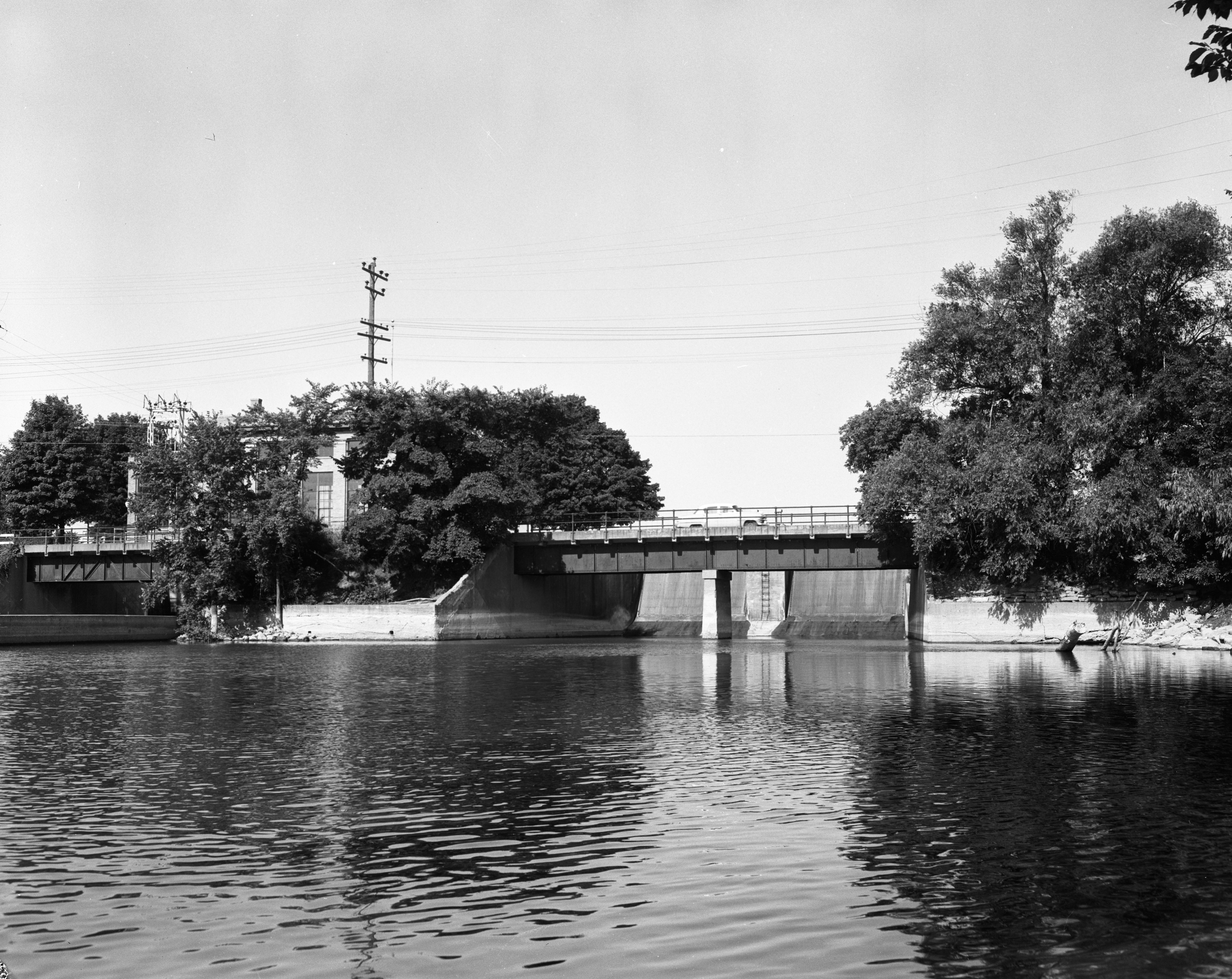 Geddes Dam At Dixboro Road, July 1956 image