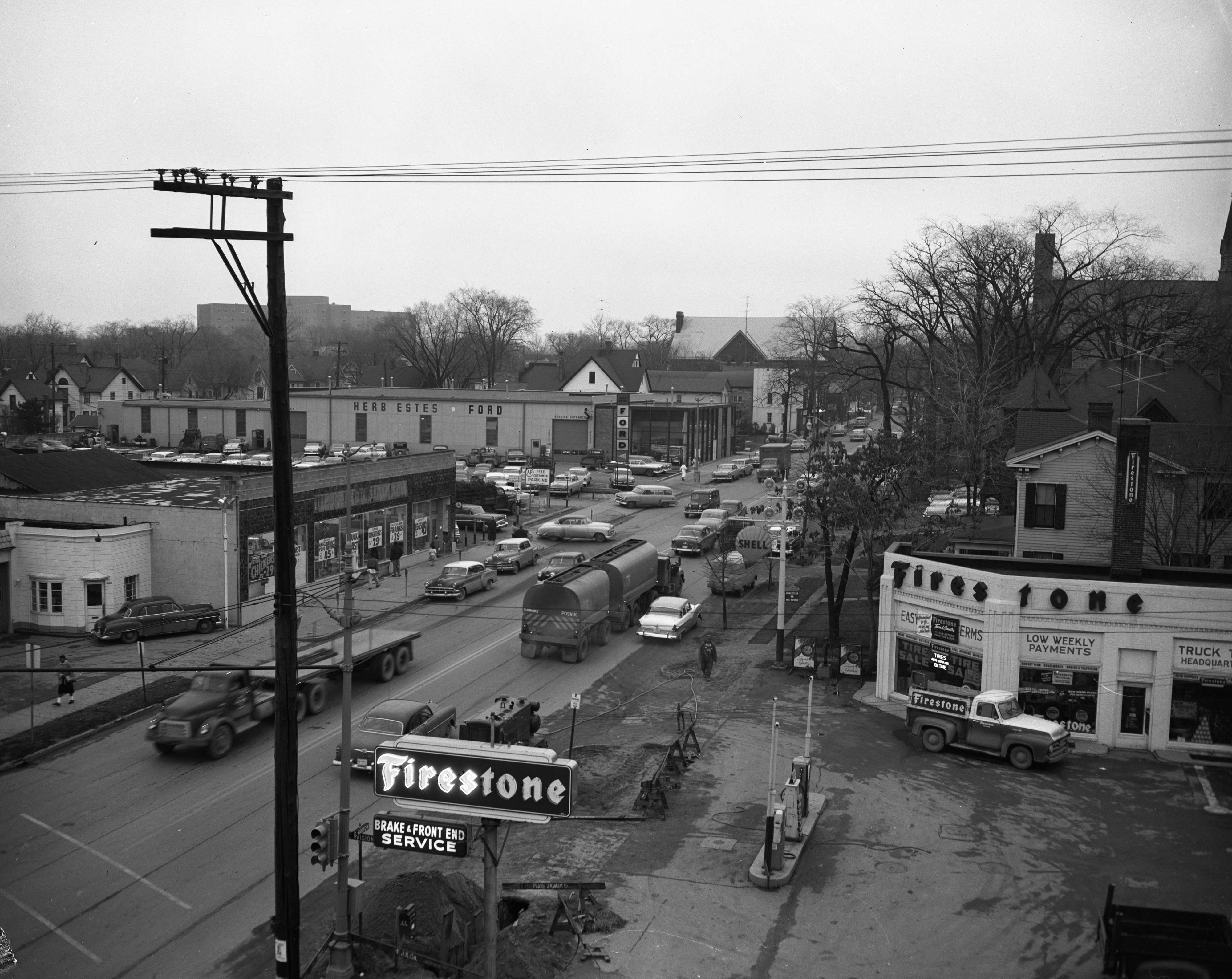 E. Huron St, between Division and State, December 1956 image