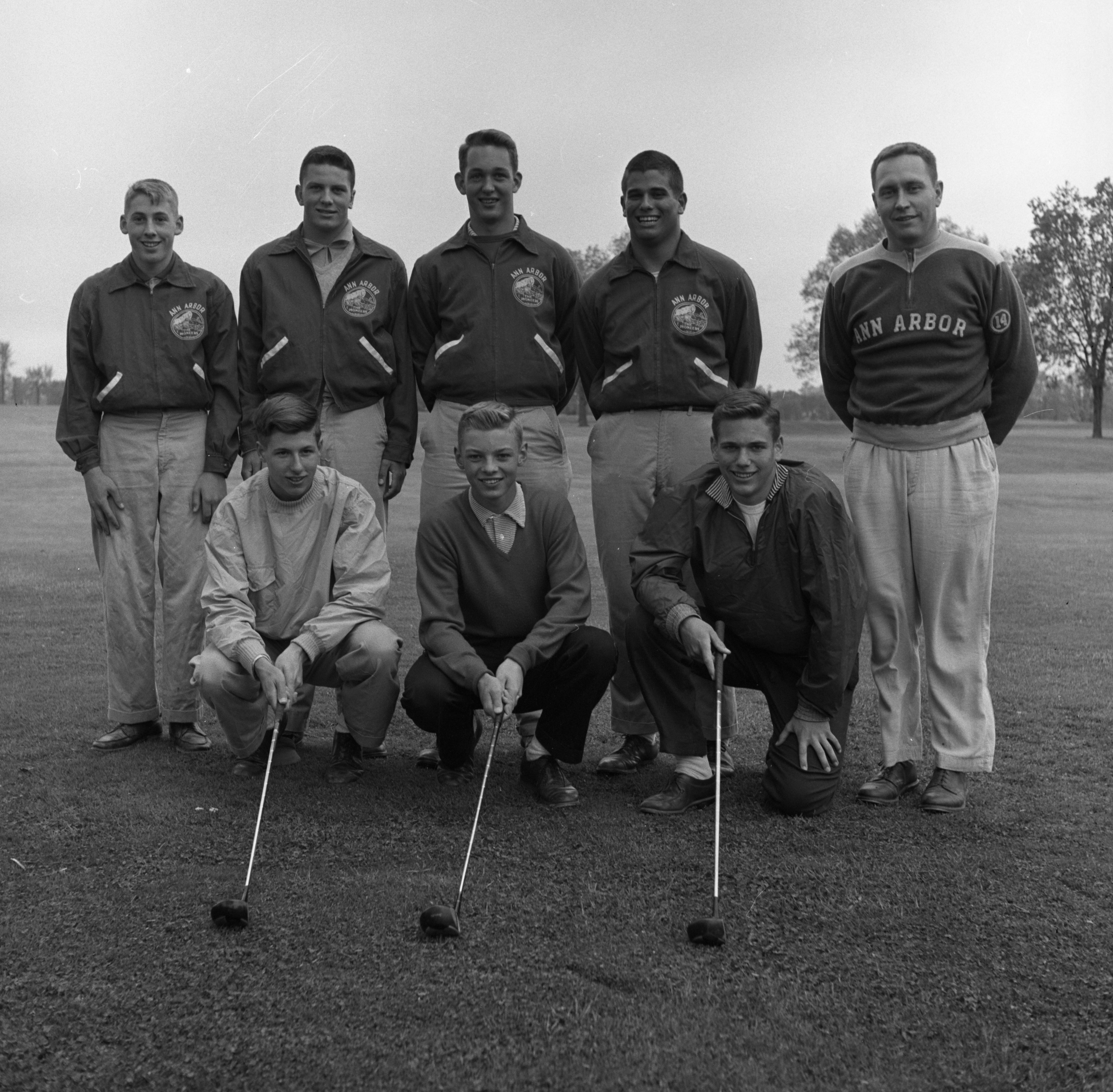 Ann Arbor High School Golfers Win Six-A League Championship, May 1957 image