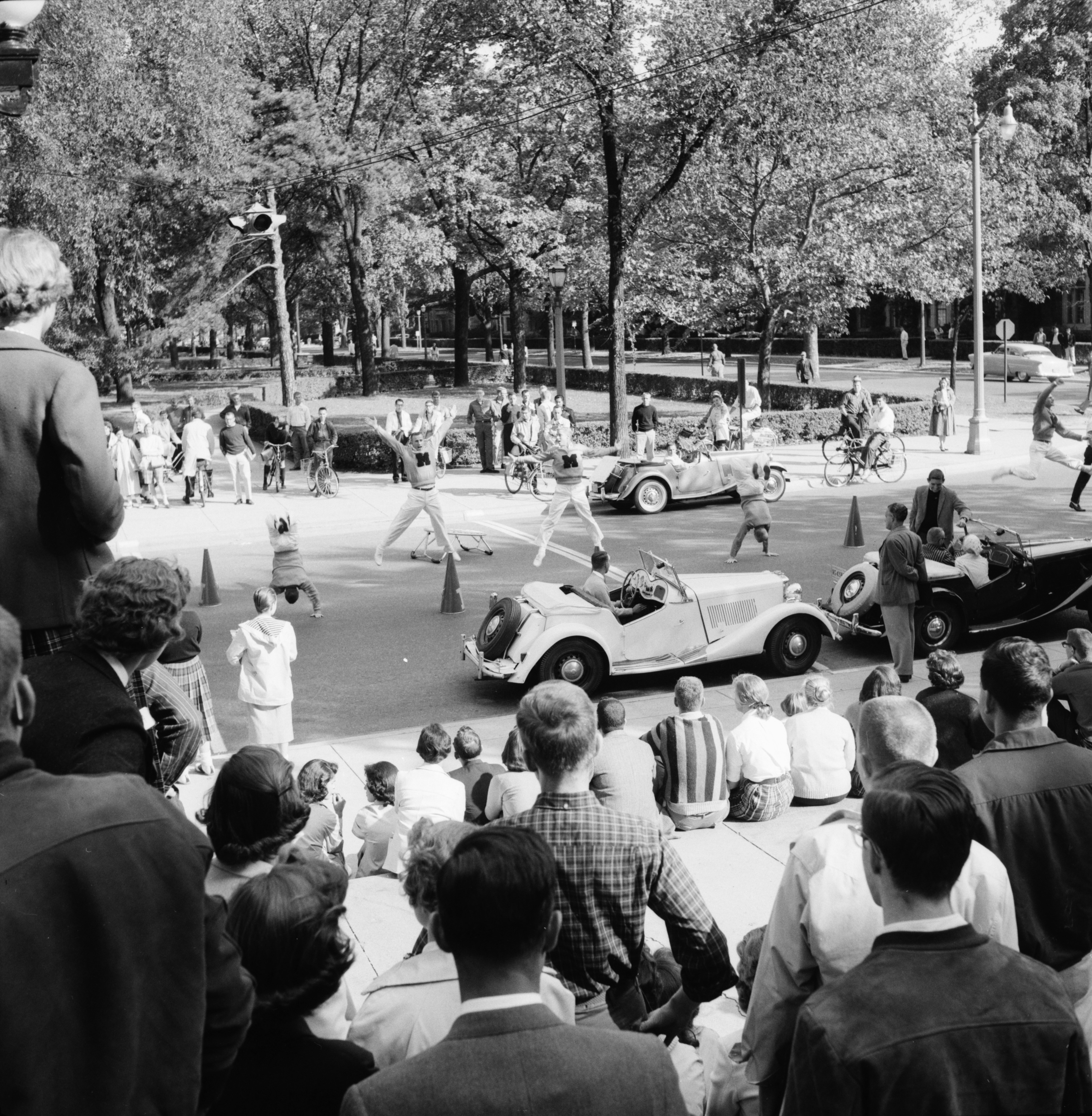 Pep rally before U-M football game, 1958 image