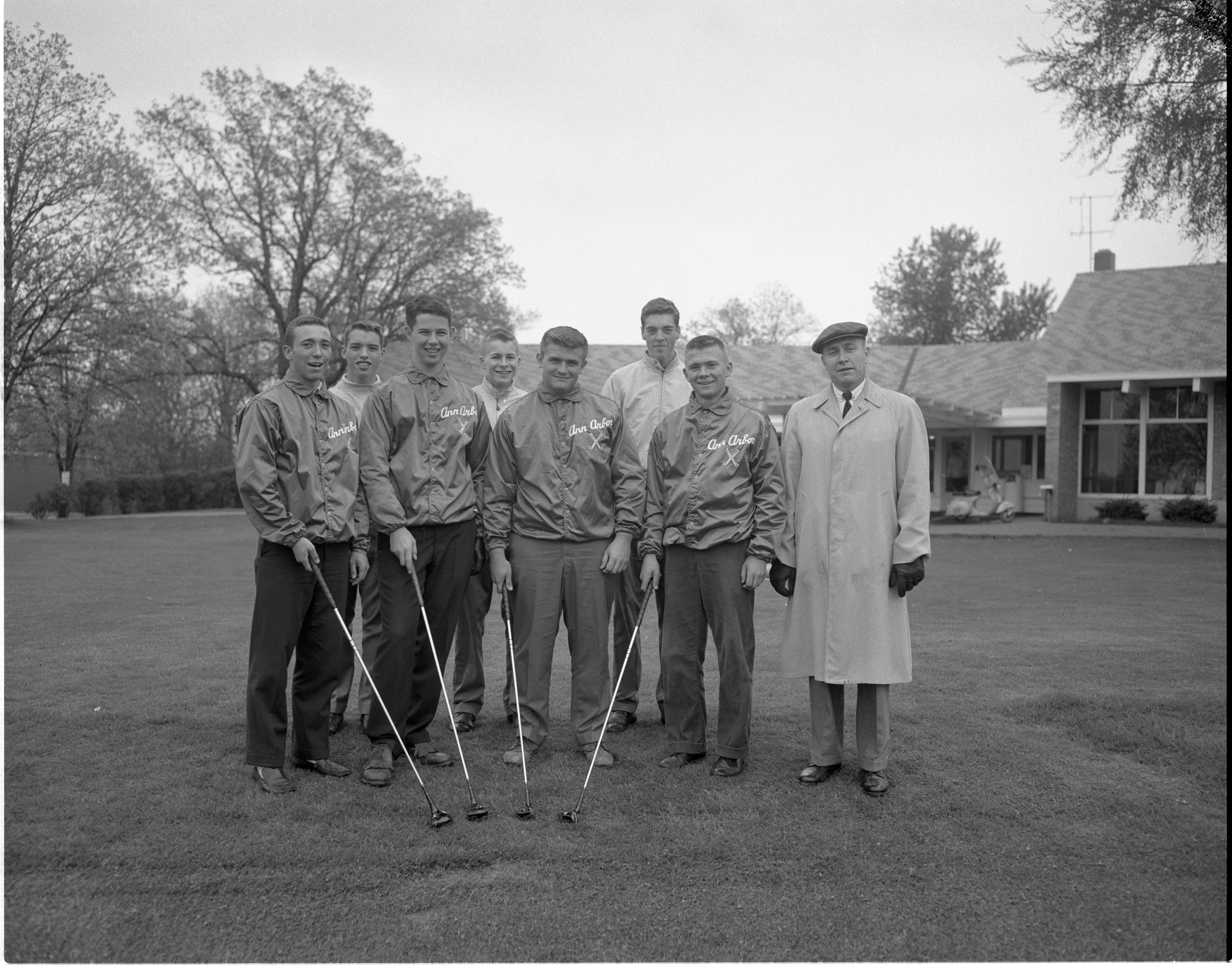 Ann Arbor High School Golf Team - Regional Champions, May 1960 image