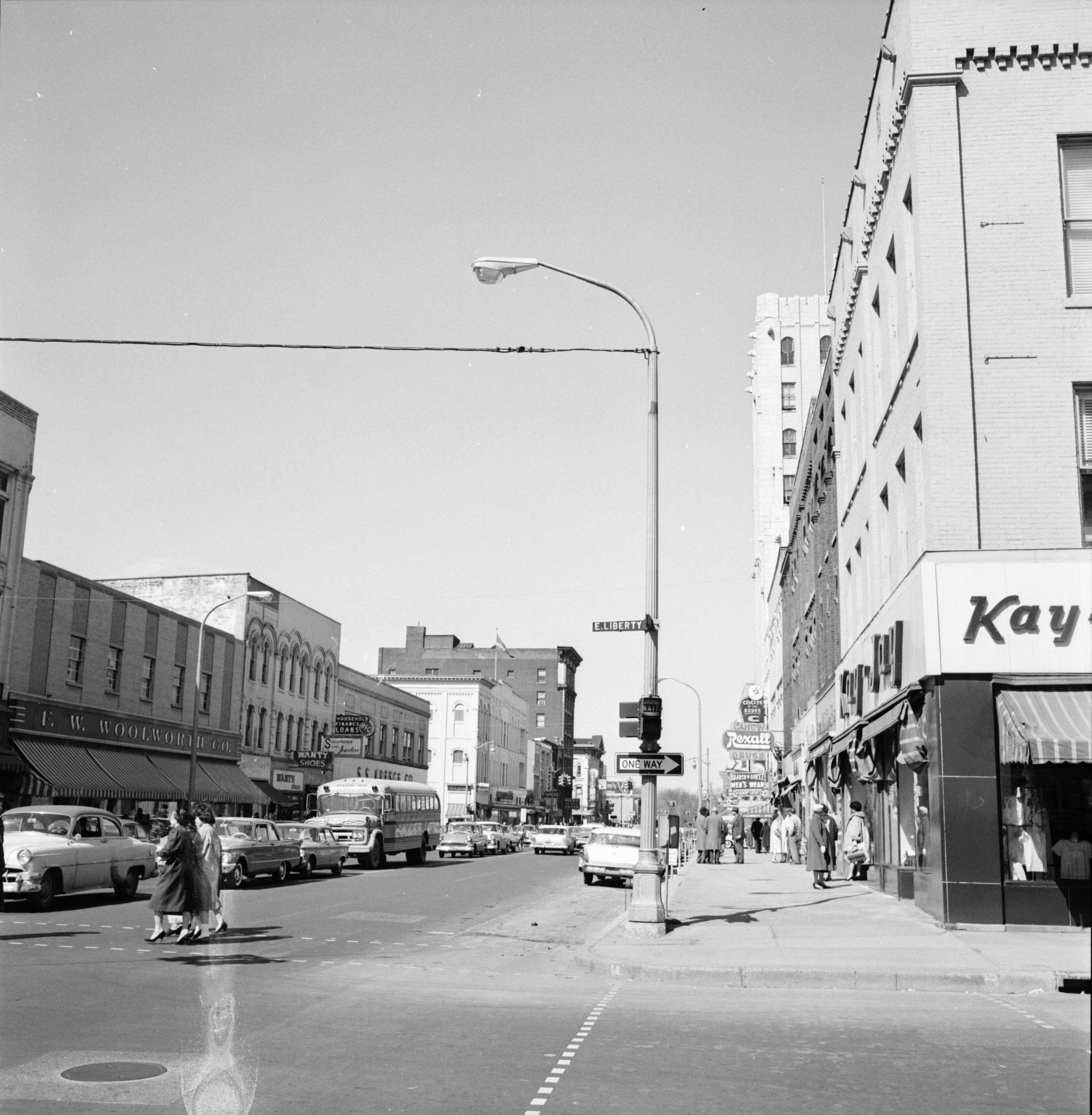 New Street Light installed on trial basis at Main and Liberty, April 1961 image