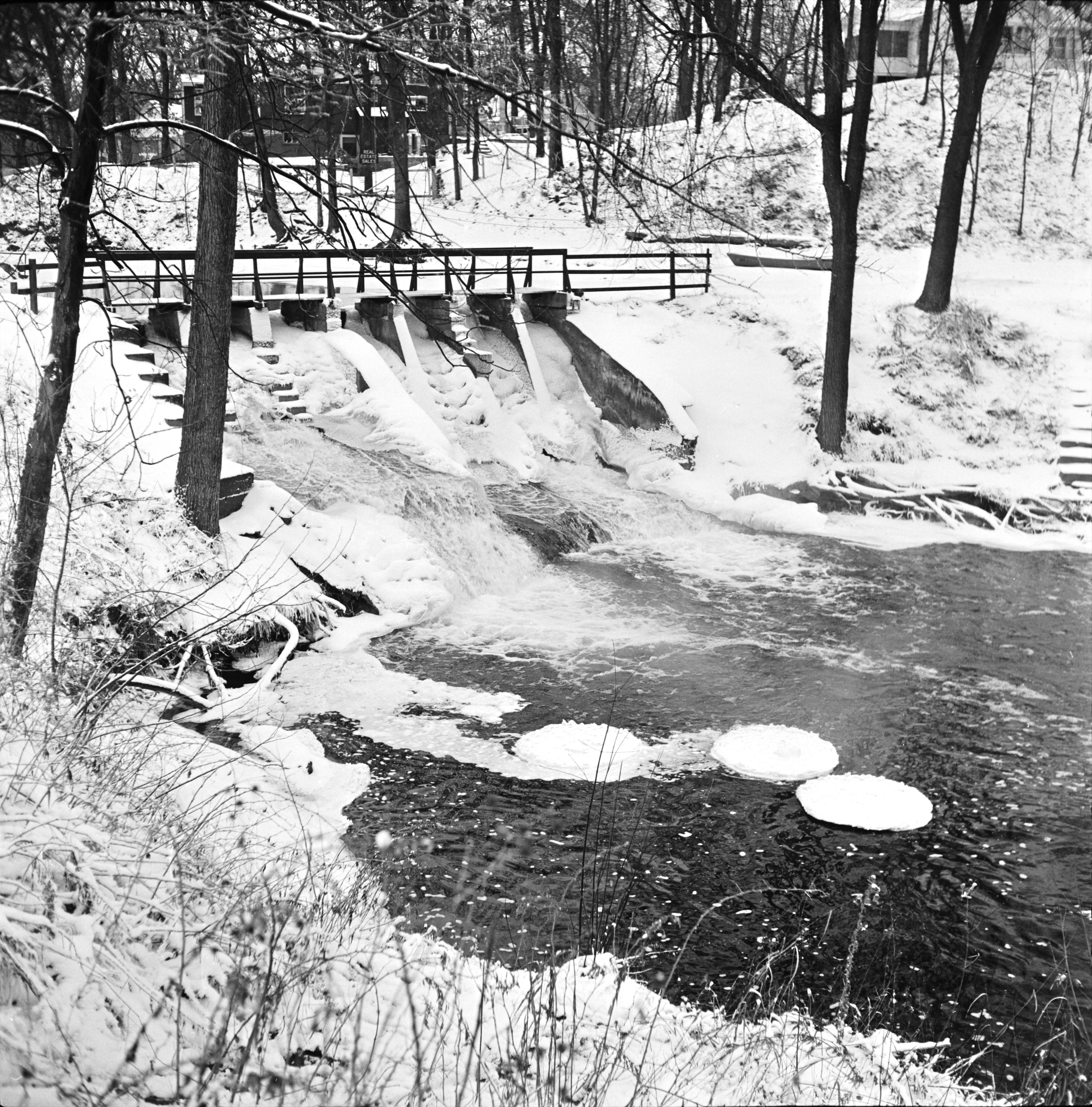 Frozen Dam in Hell, Michigan, January 1962 image