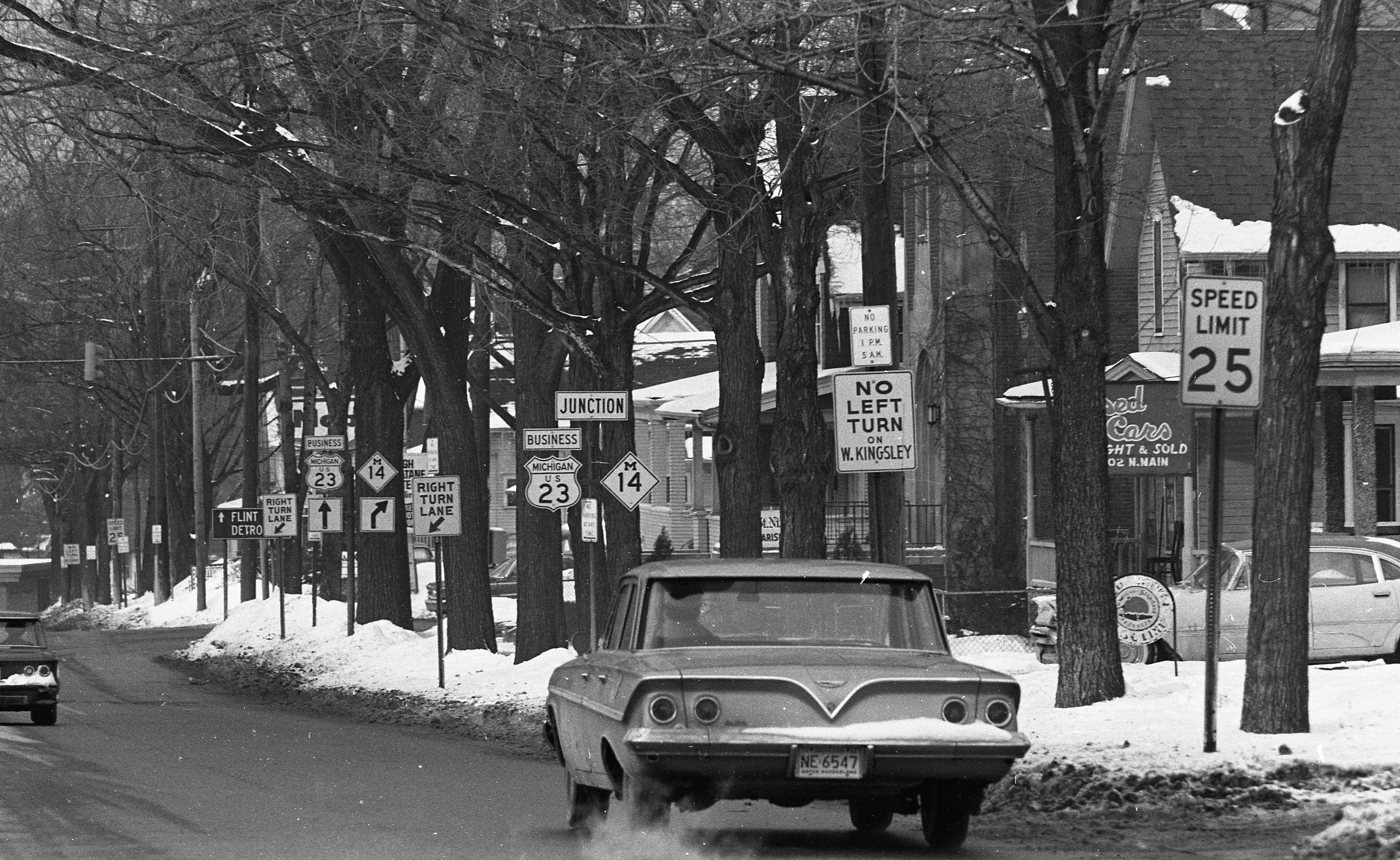 A Jungle of Traffic Signs on N Main Street, February 1963 image