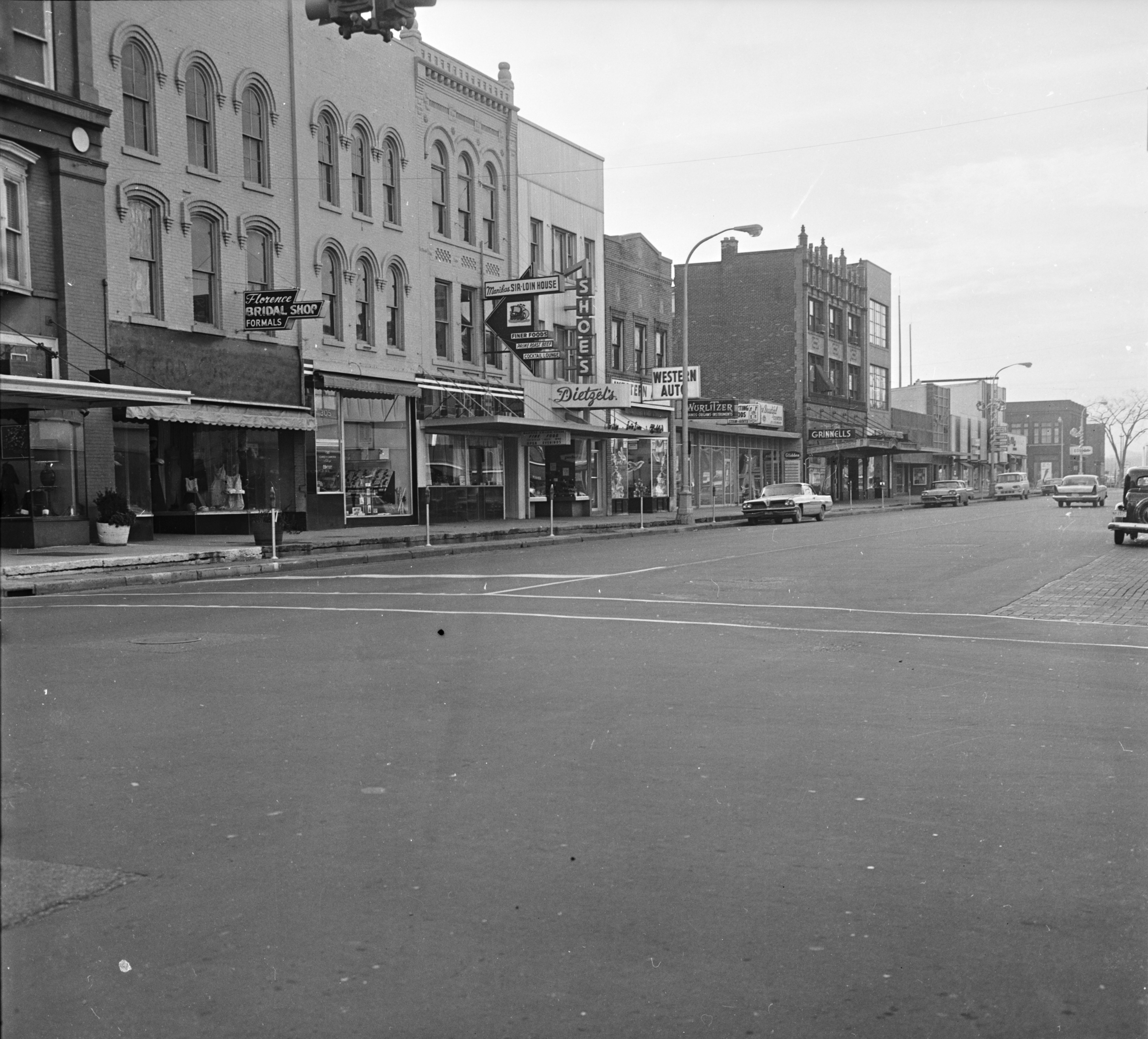 Main Street deserted as Ann Arbor mourns the death of President Kennedy, November 25, 1963 image