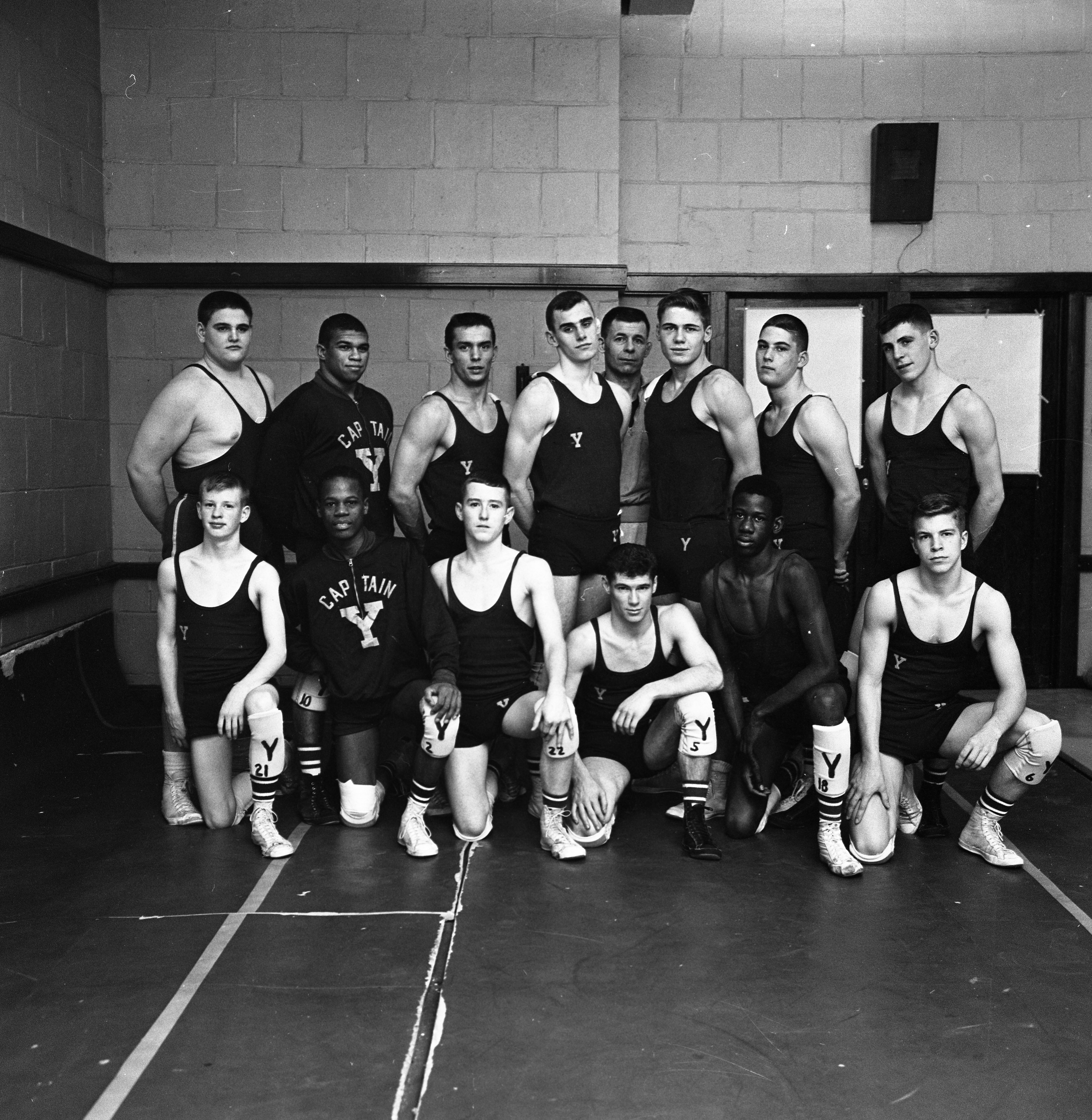 Ypsilanti High School Wrestling Team Champions of Huron-Rouge Valley League, March 1964 image