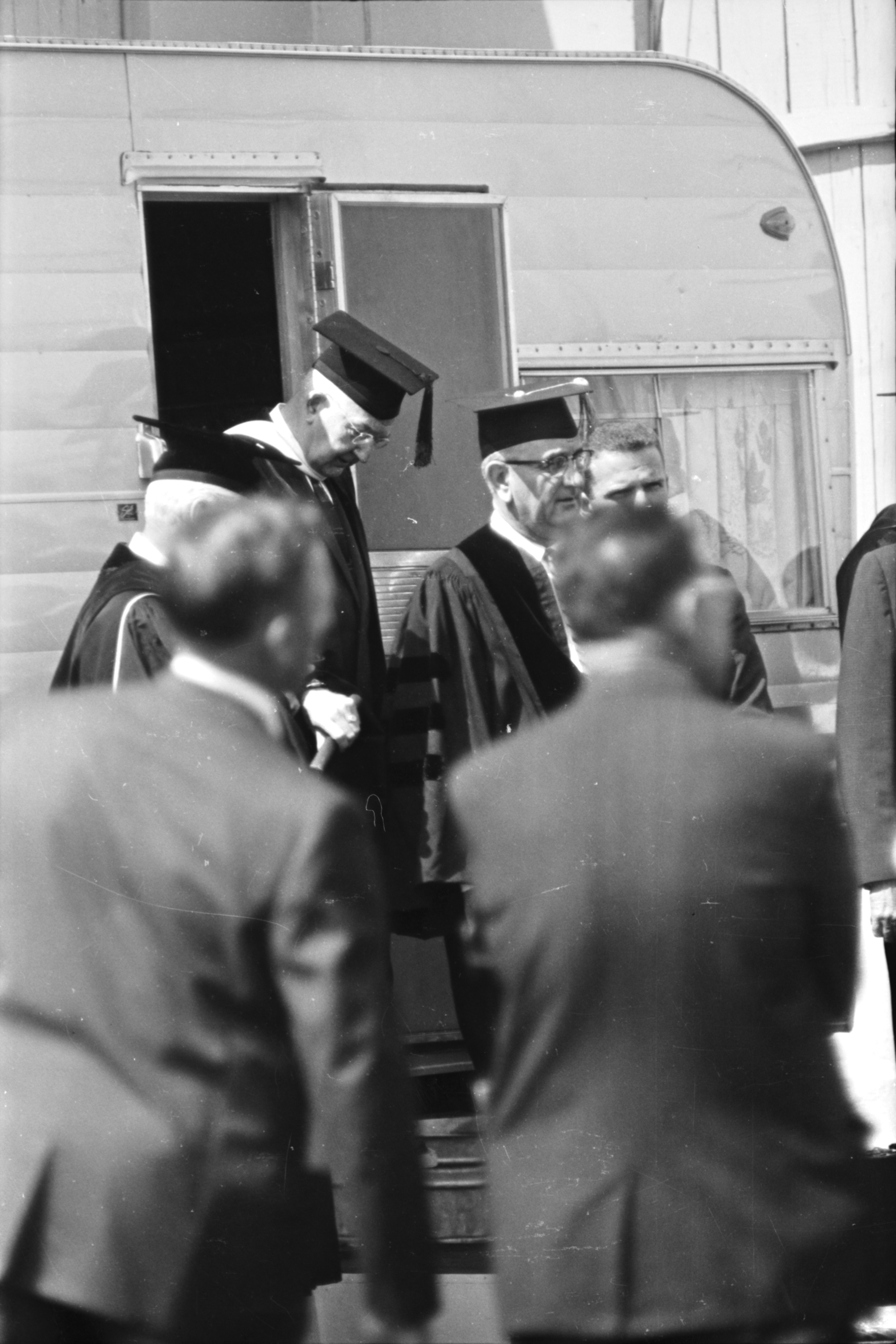 "Lyndon B. Johnson prior to U-M Commencement speech, May 22, 1964 (LBJ's ""Great Society"" Speech) image"