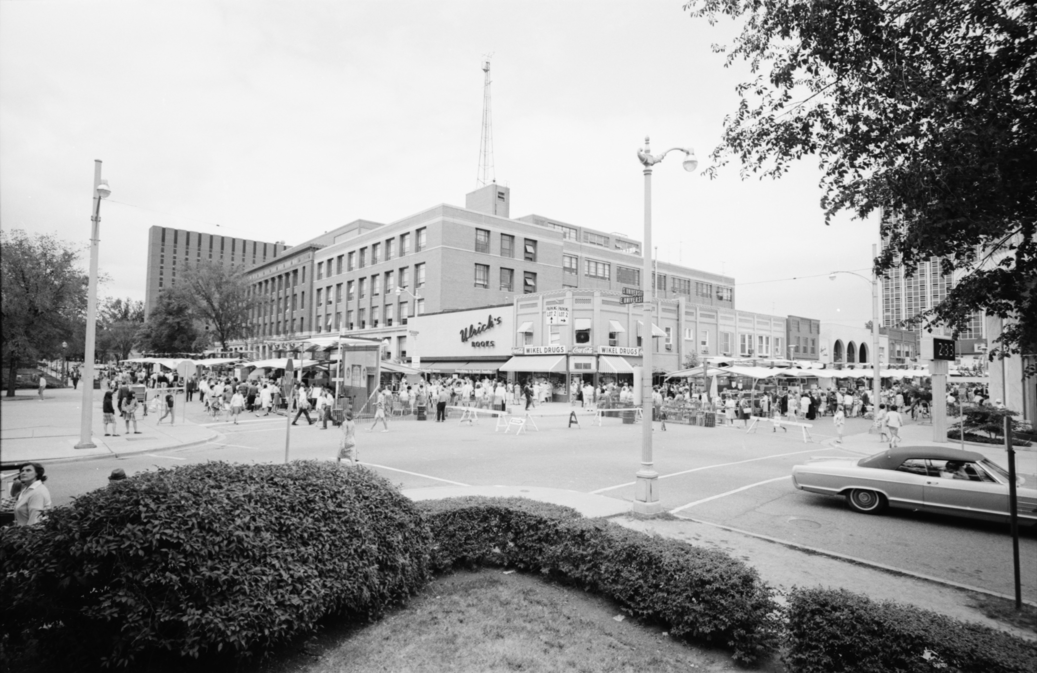Across S. University Looking At The Ann Arbor Art Fair, July 1965 image