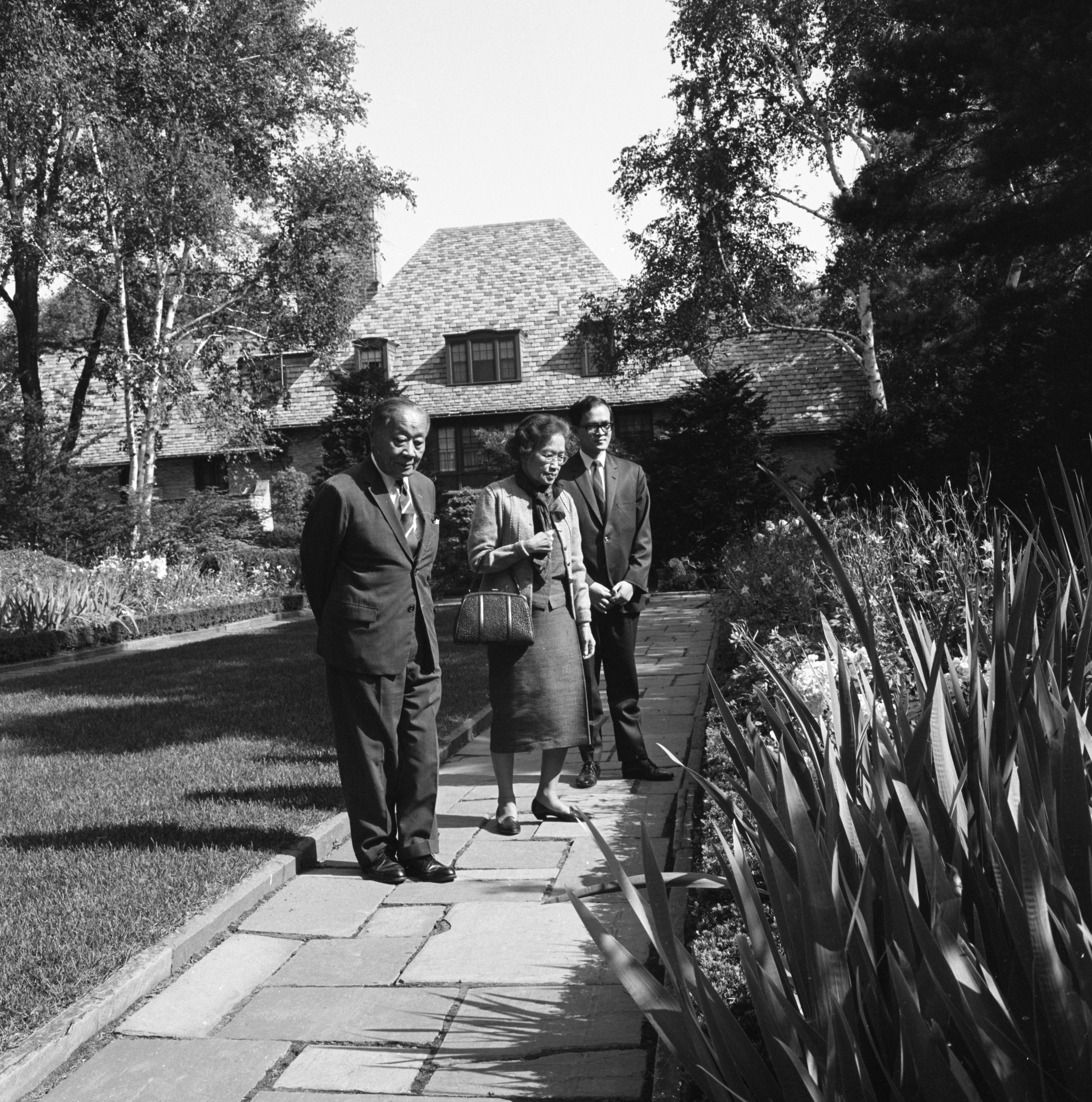 Thailand's Prince and Princess Visit Inglis House Gardens, August 1967 image