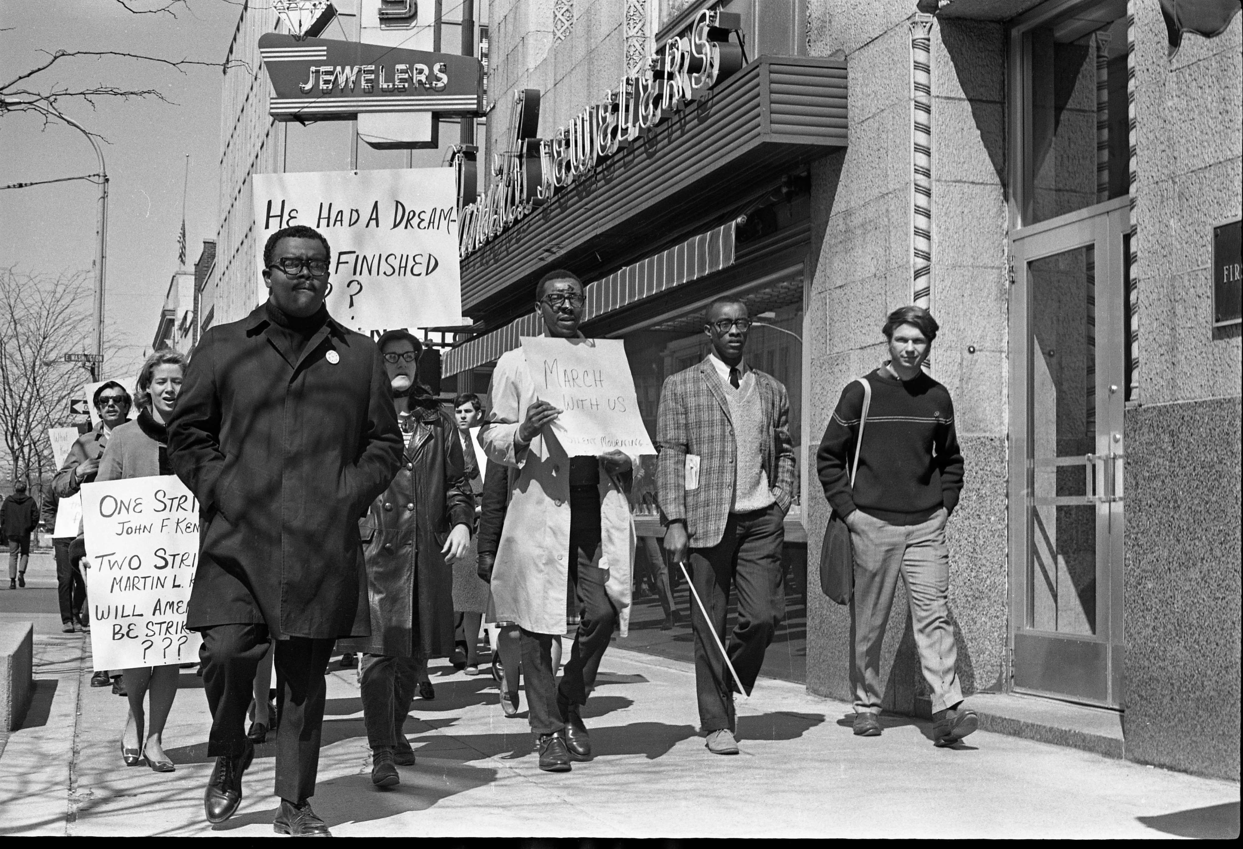 Marching On Main Street After Martin Luther King Jr Memorial Services, April 1968 image