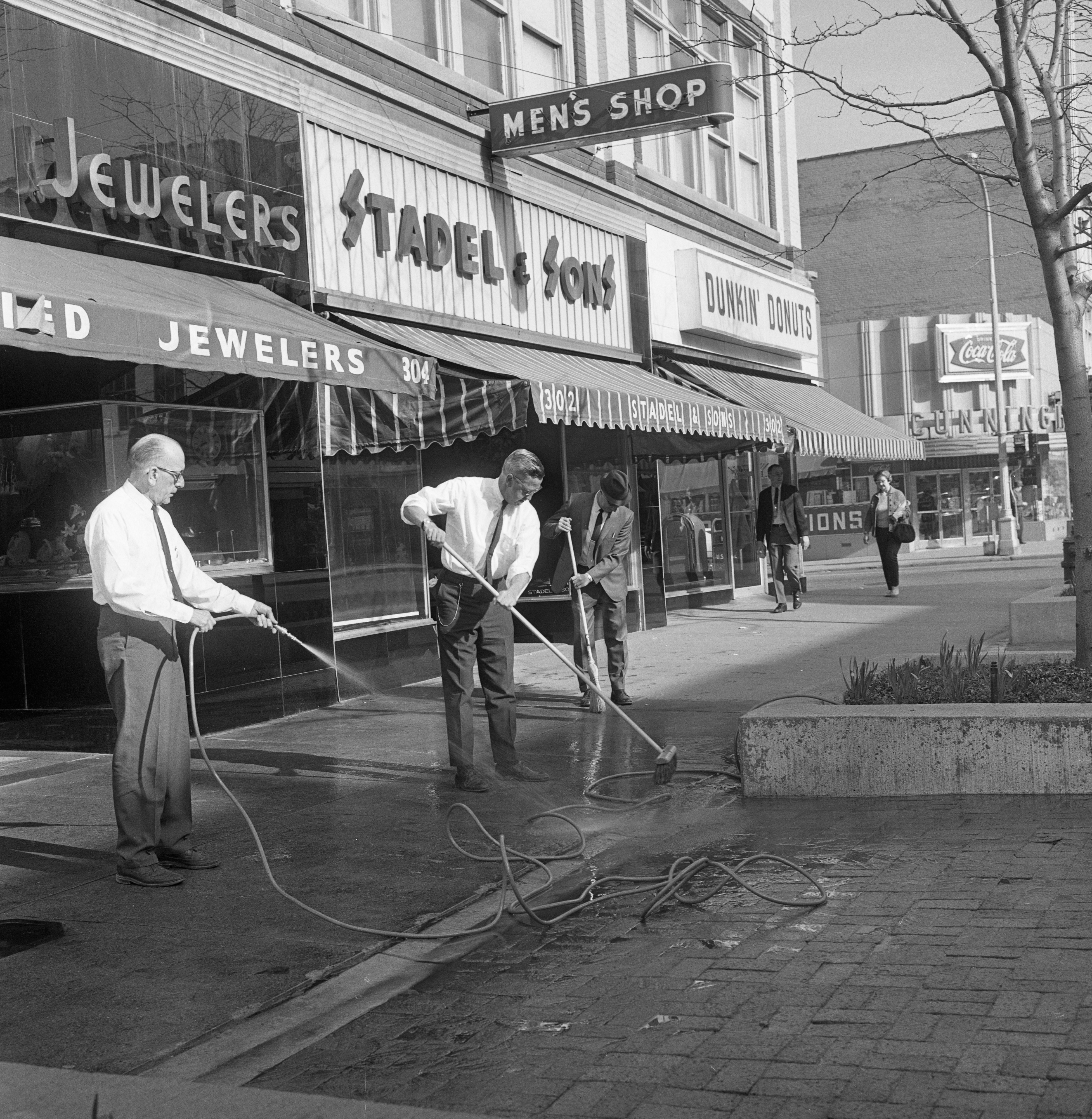 Ann Arbor Downtown Merchants Annual Spring Cleanup, April 1968 image