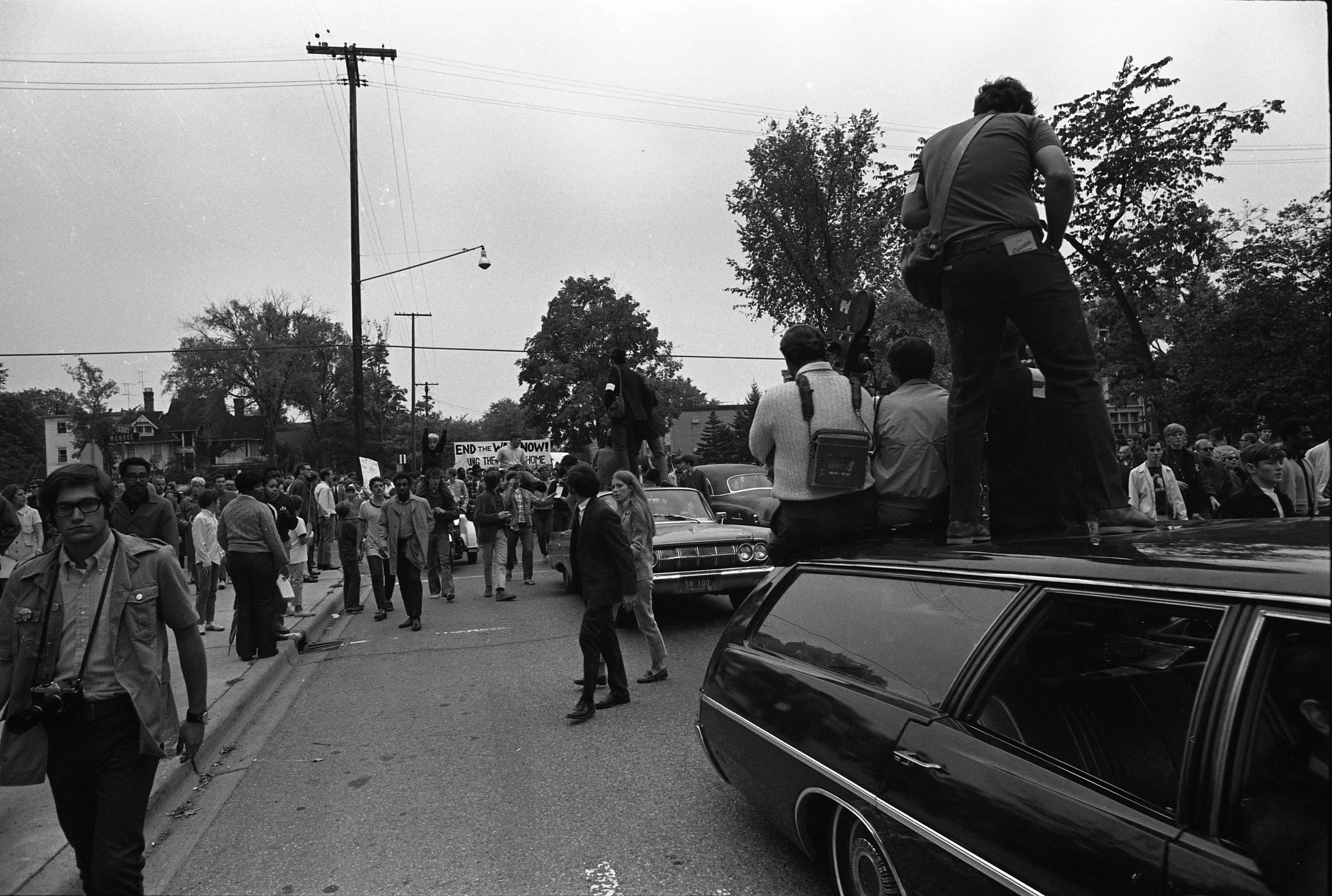 March For Peace On Packard, September 20, 1969 image