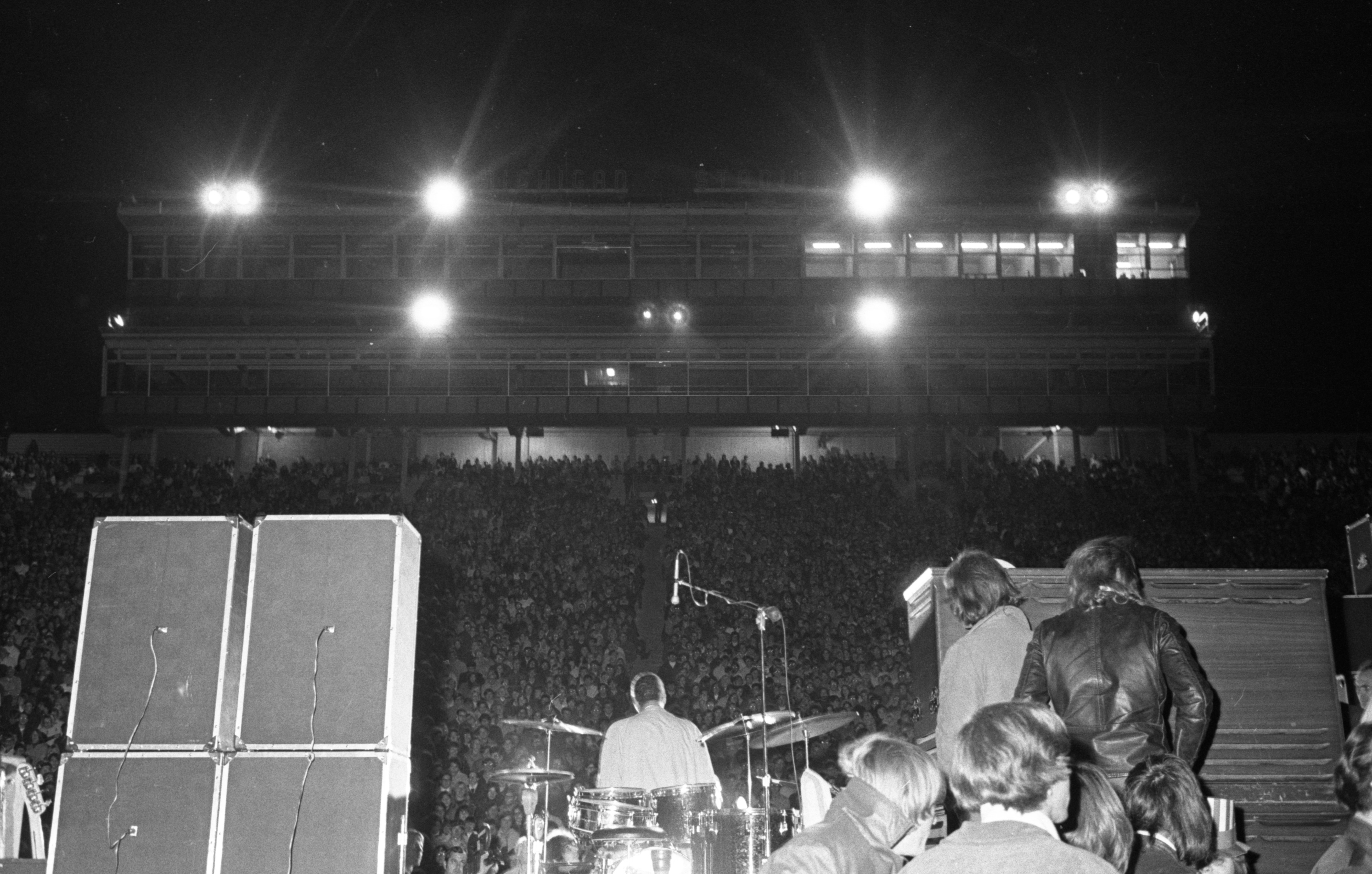 Peace Rally at Michigan Stadium, October 1969 image