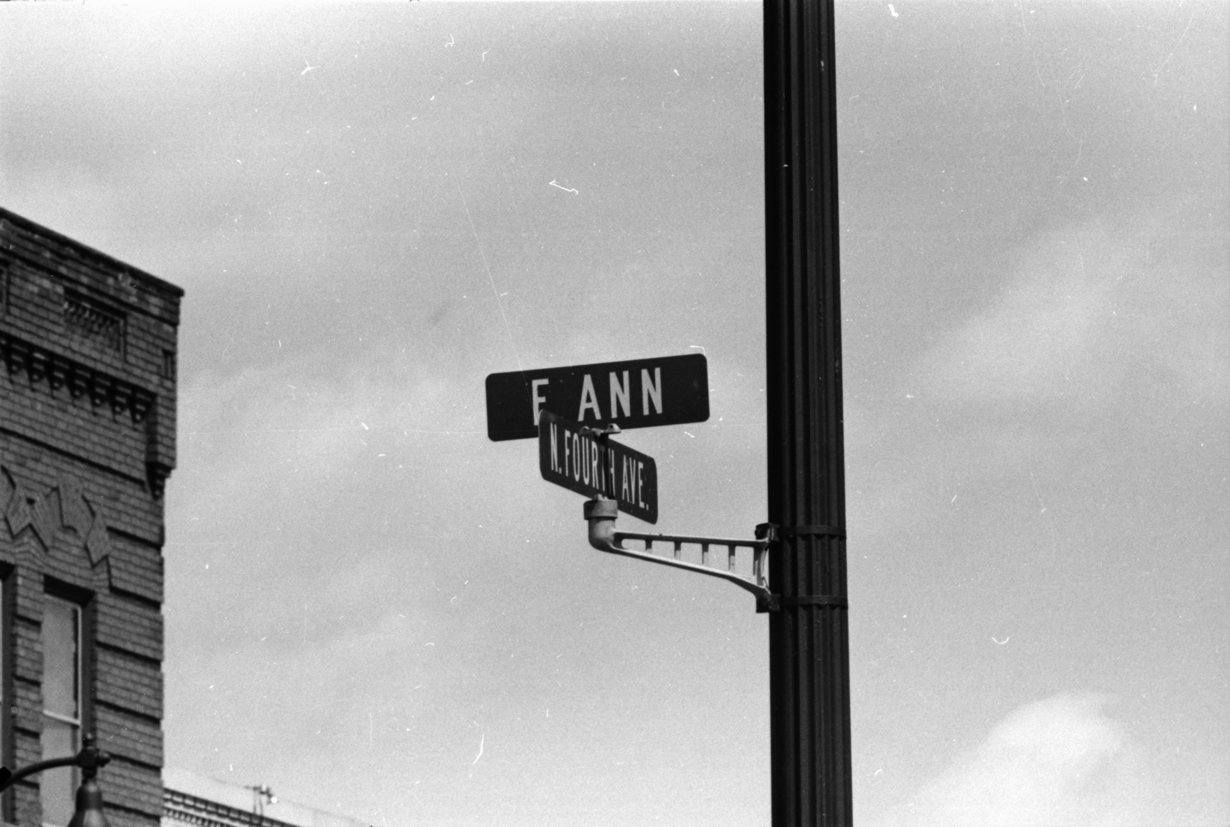 Street Sign, E. Ann St. and N. Fourth Ave, May 1974 image