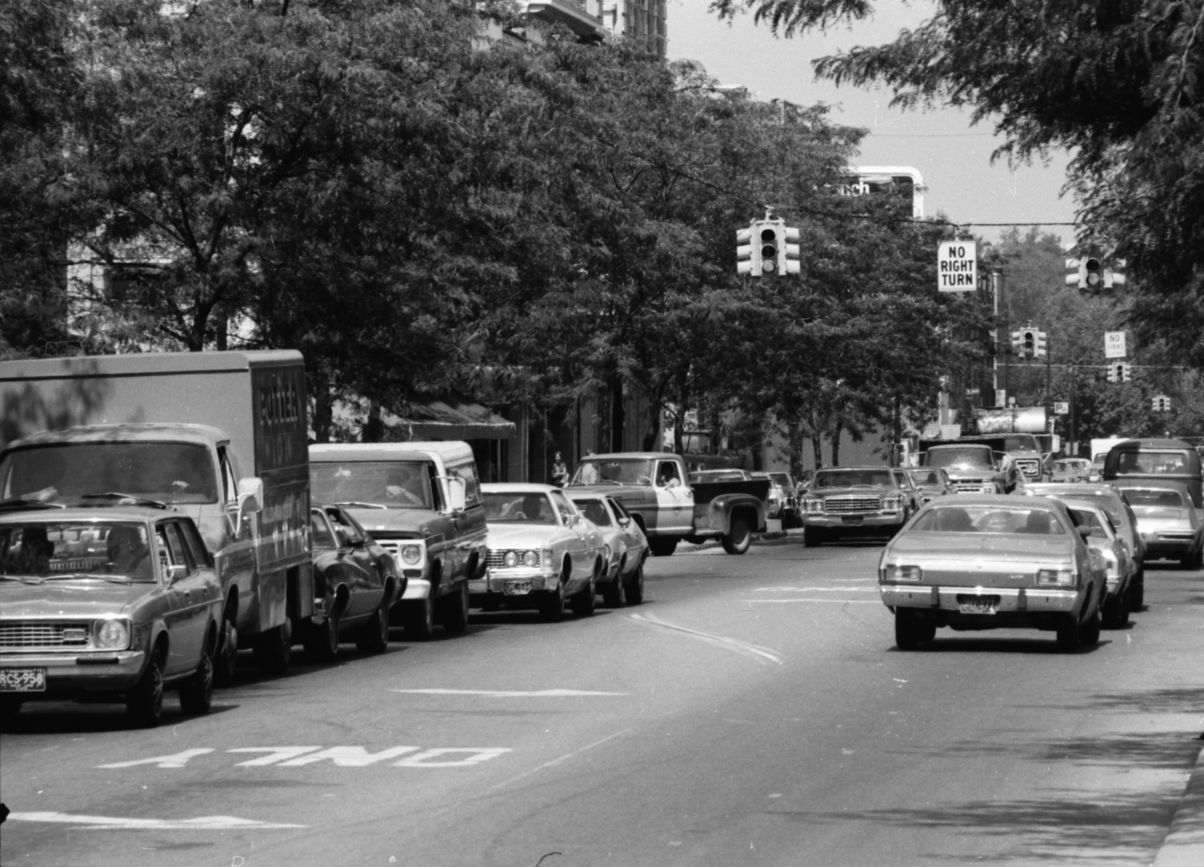 Backup on Main Street at corner of Liberty and Main, August 30, 1974 image