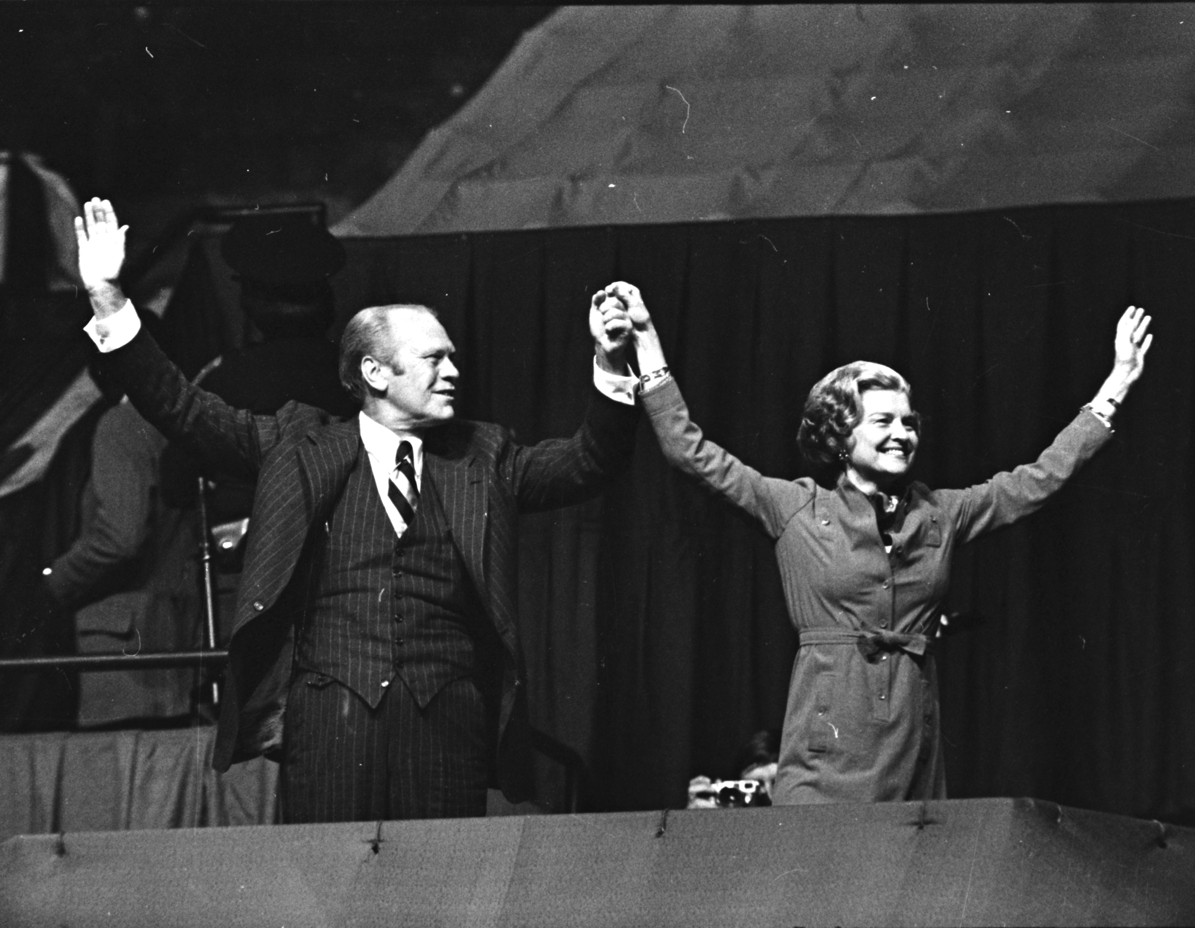 President Gerald and Betty Ford visit U-M, September 1976 image