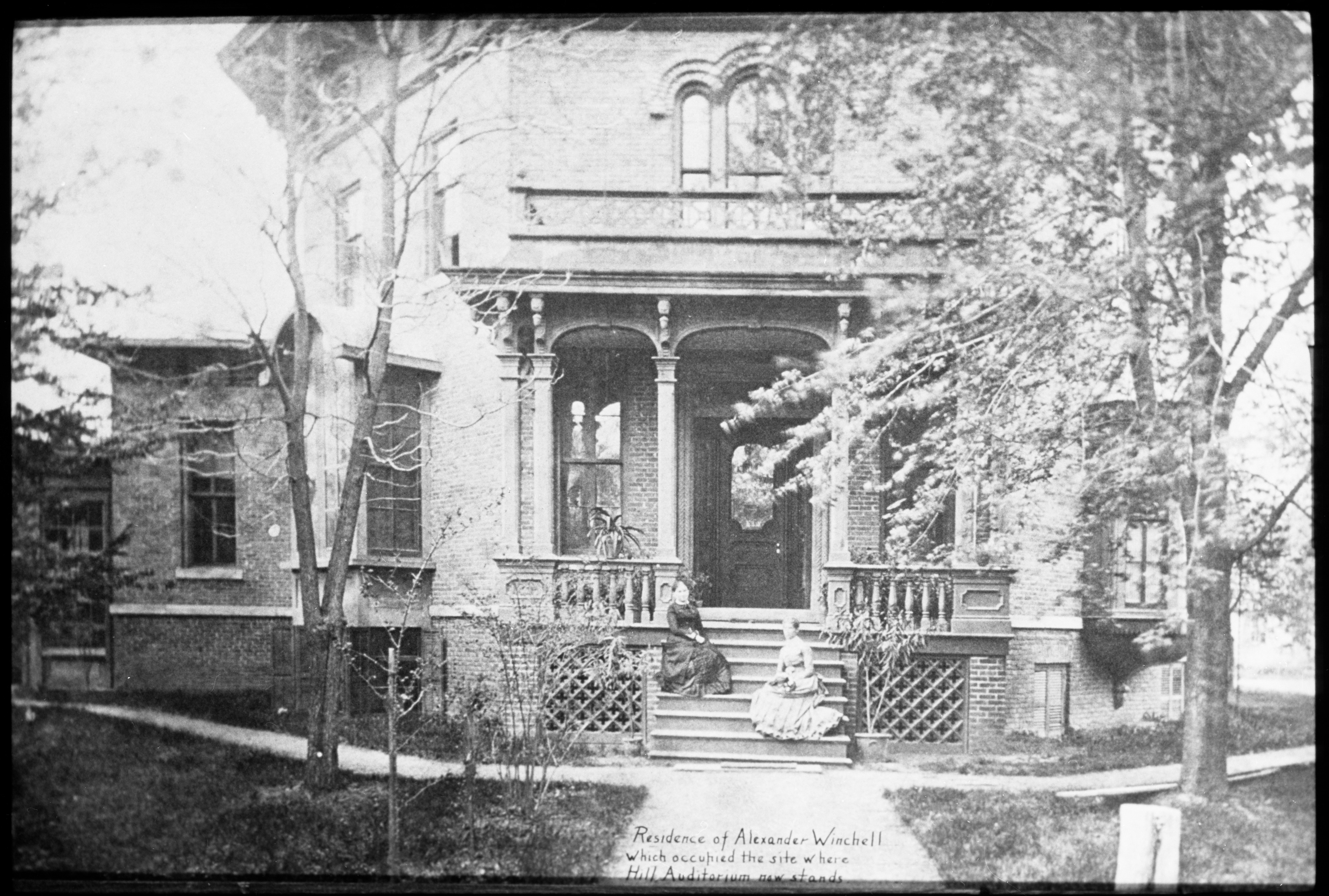Residence of Alexander Winchell, which occupied site where Hill Auditorium is now, undated image