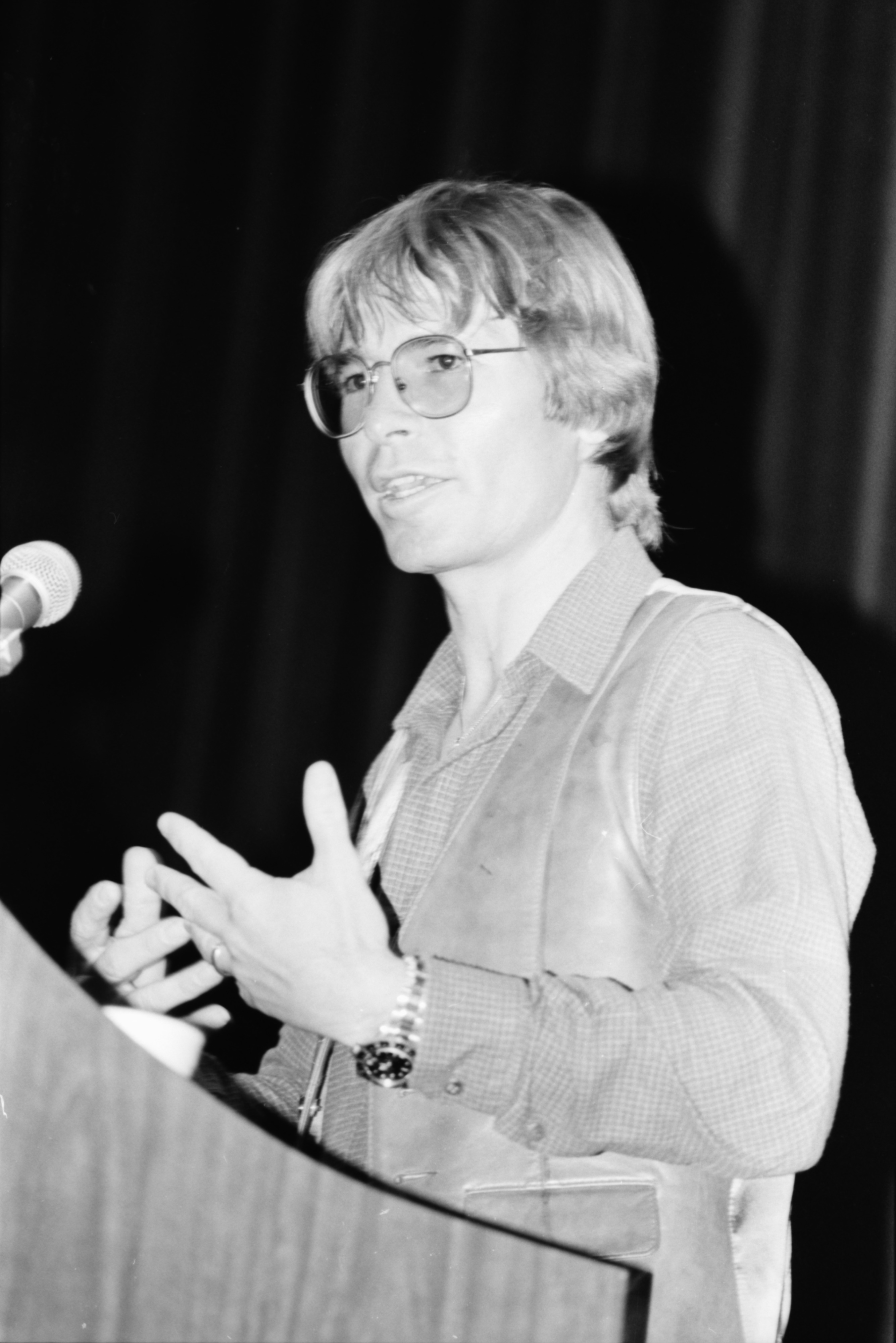 John Denver at the Michigan Theater, April 1980 image