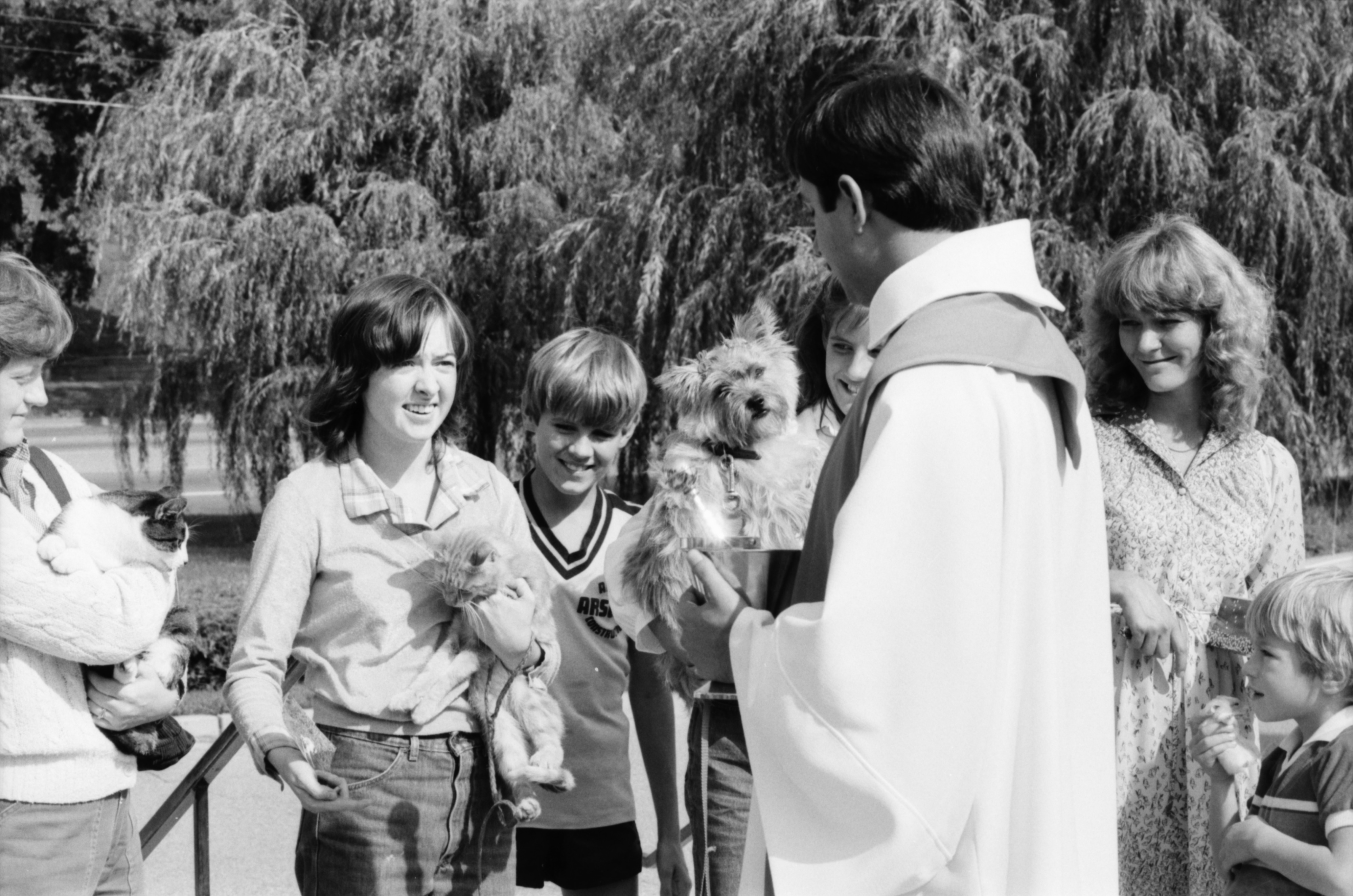 Rev. Mark Inglot During the Blessing of the Pets at St. Francis of Assisi Church, October 1983 image