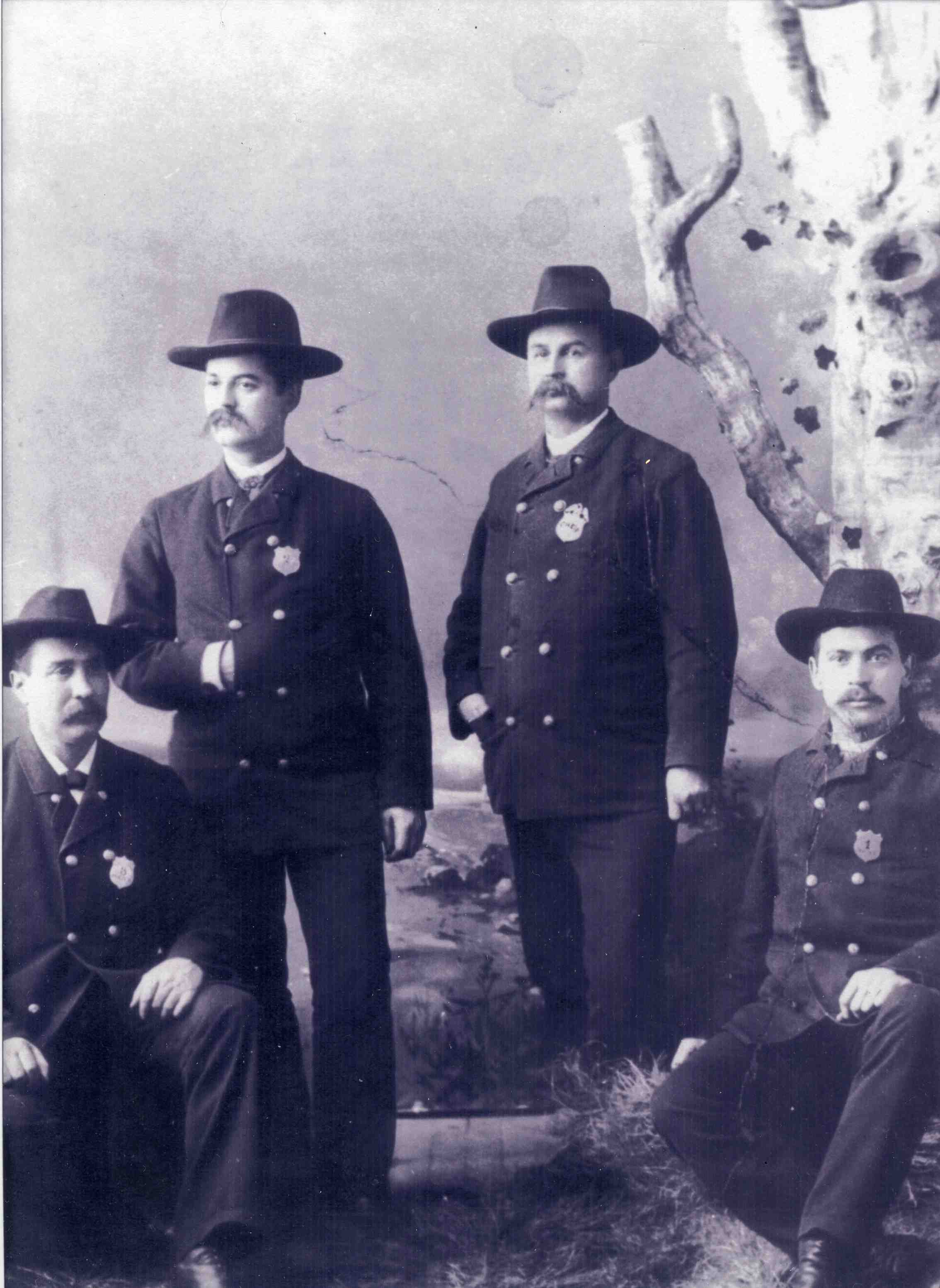 Earliest known photograph of members of the Ann Arbor Police Department, ca.1871 image