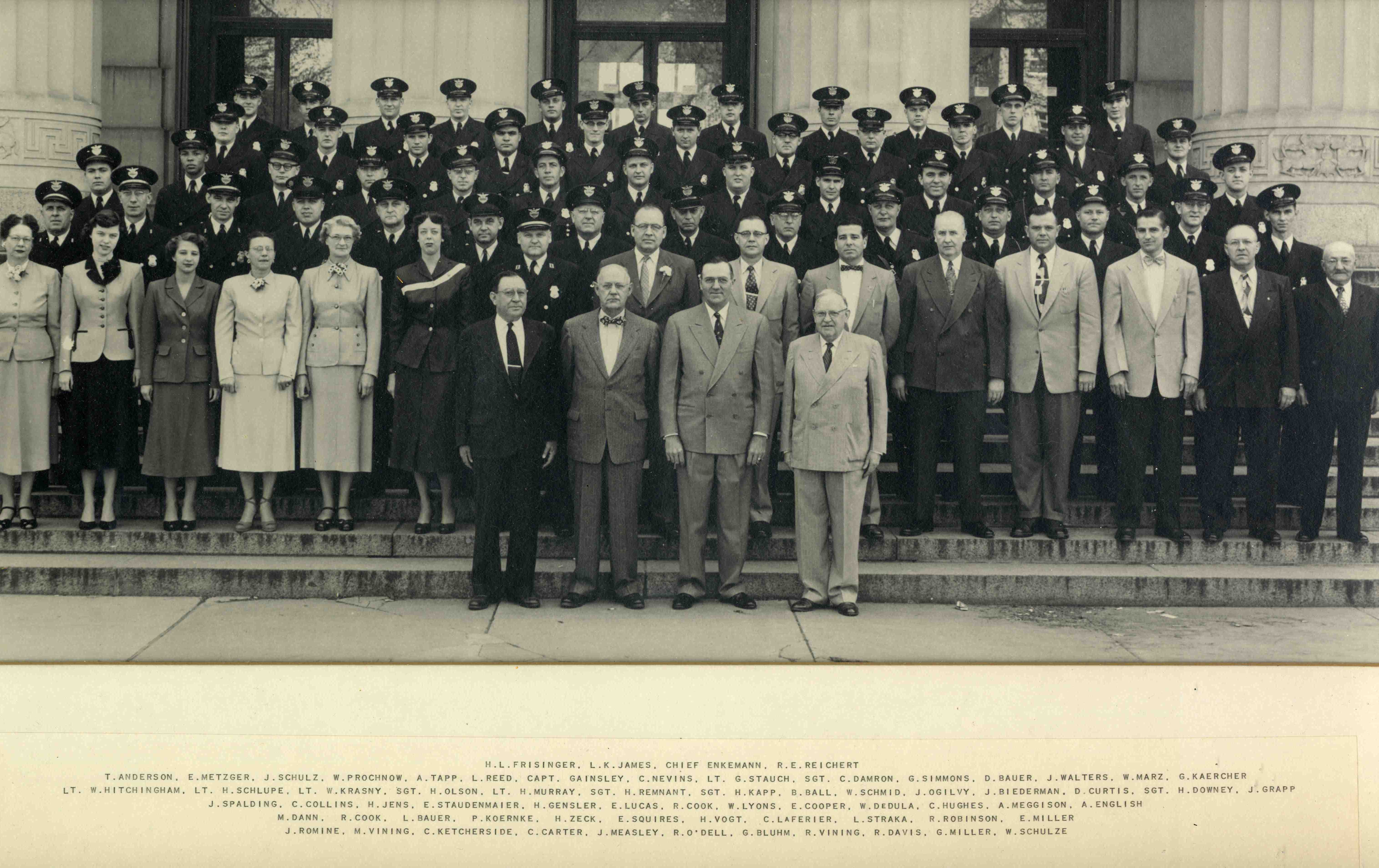 Ann Arbor Police Department Group Photo, May 1953 image