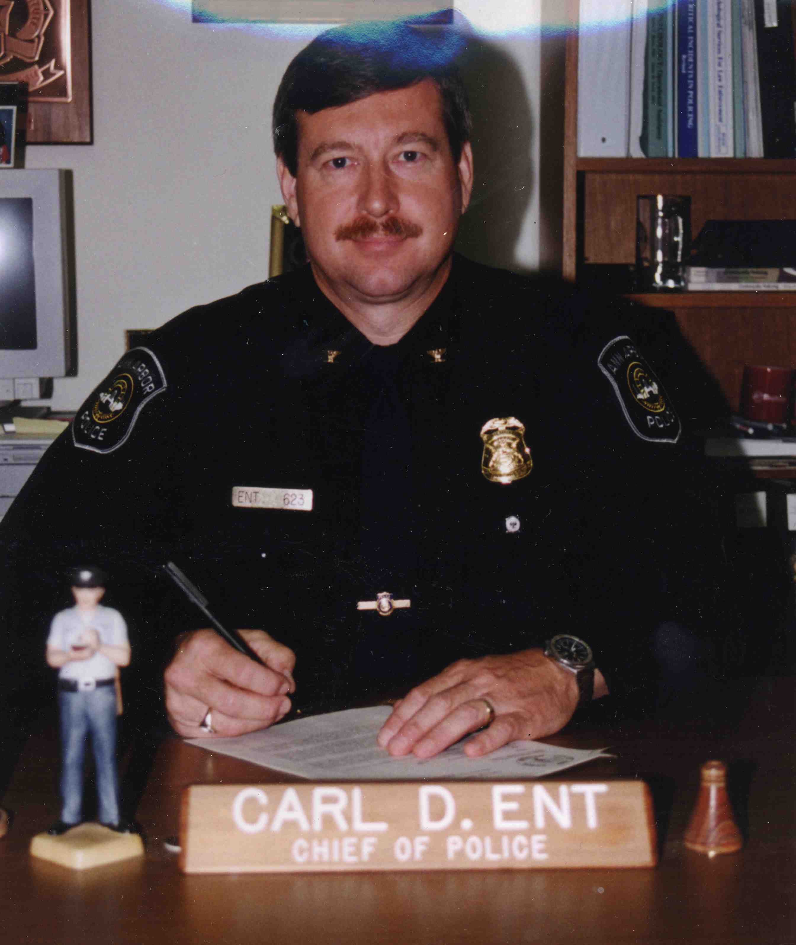 Ann Arbor Police Chief Carl D. Ent, 1995-2000 image