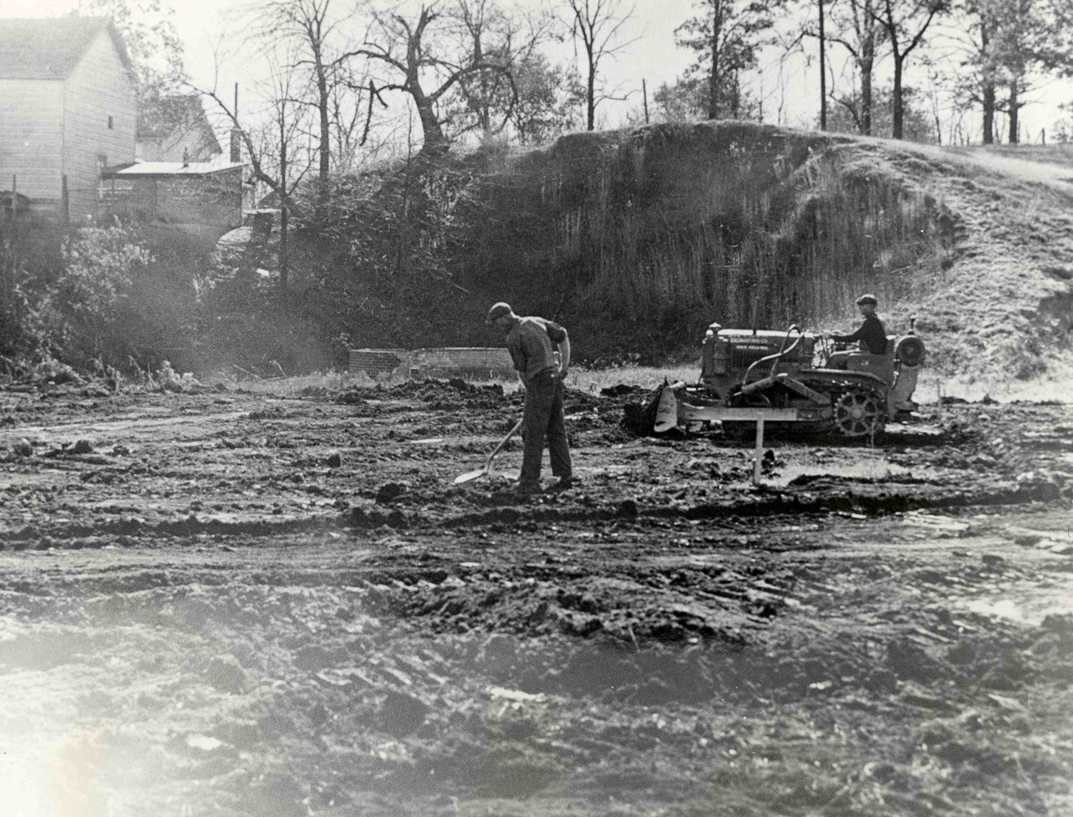 Excavation for Ann Arbor Police Department outdoor pistol range,1939-1940 image