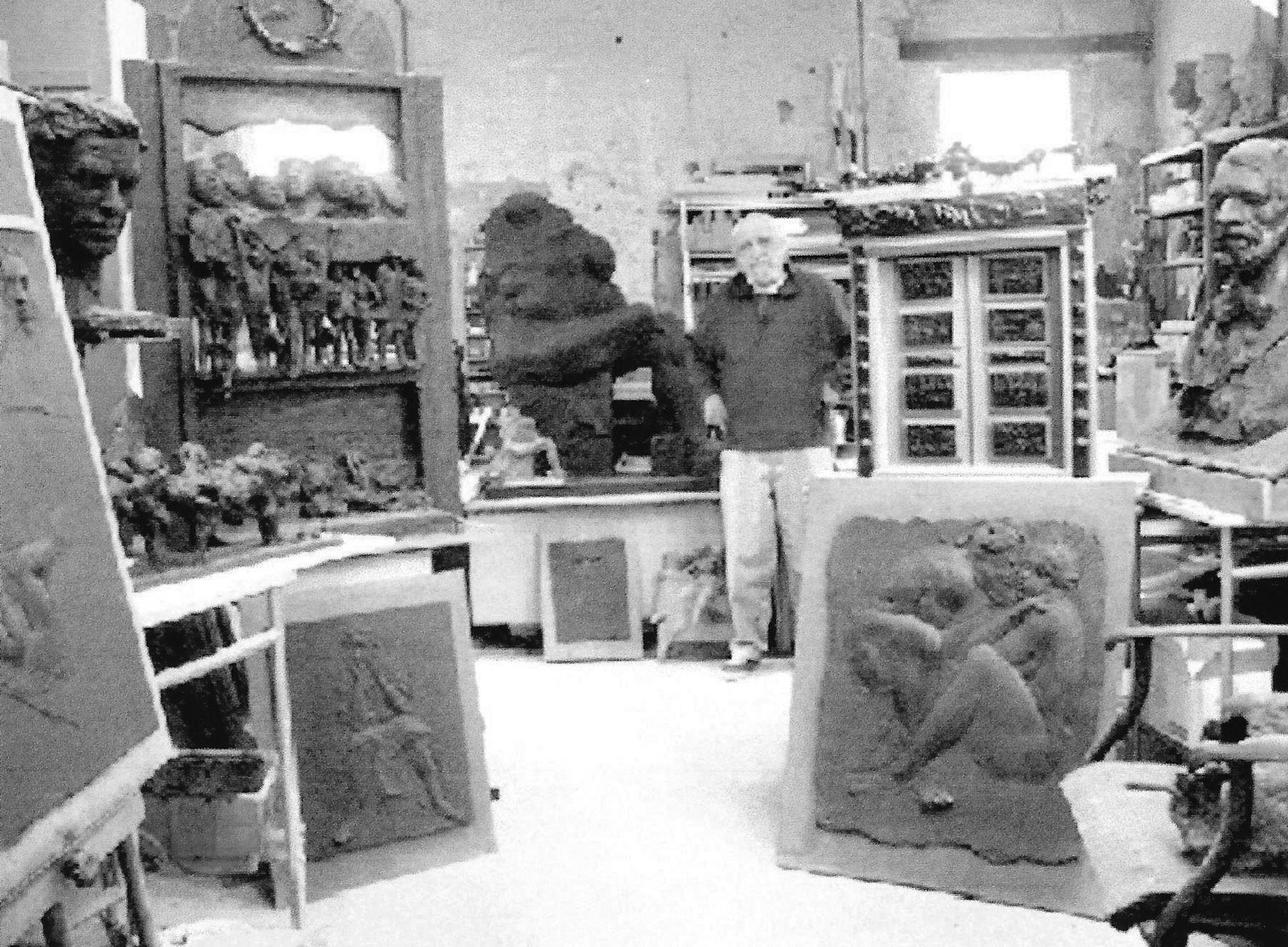 John Nick Pappas, Sculptor, In His Studio image