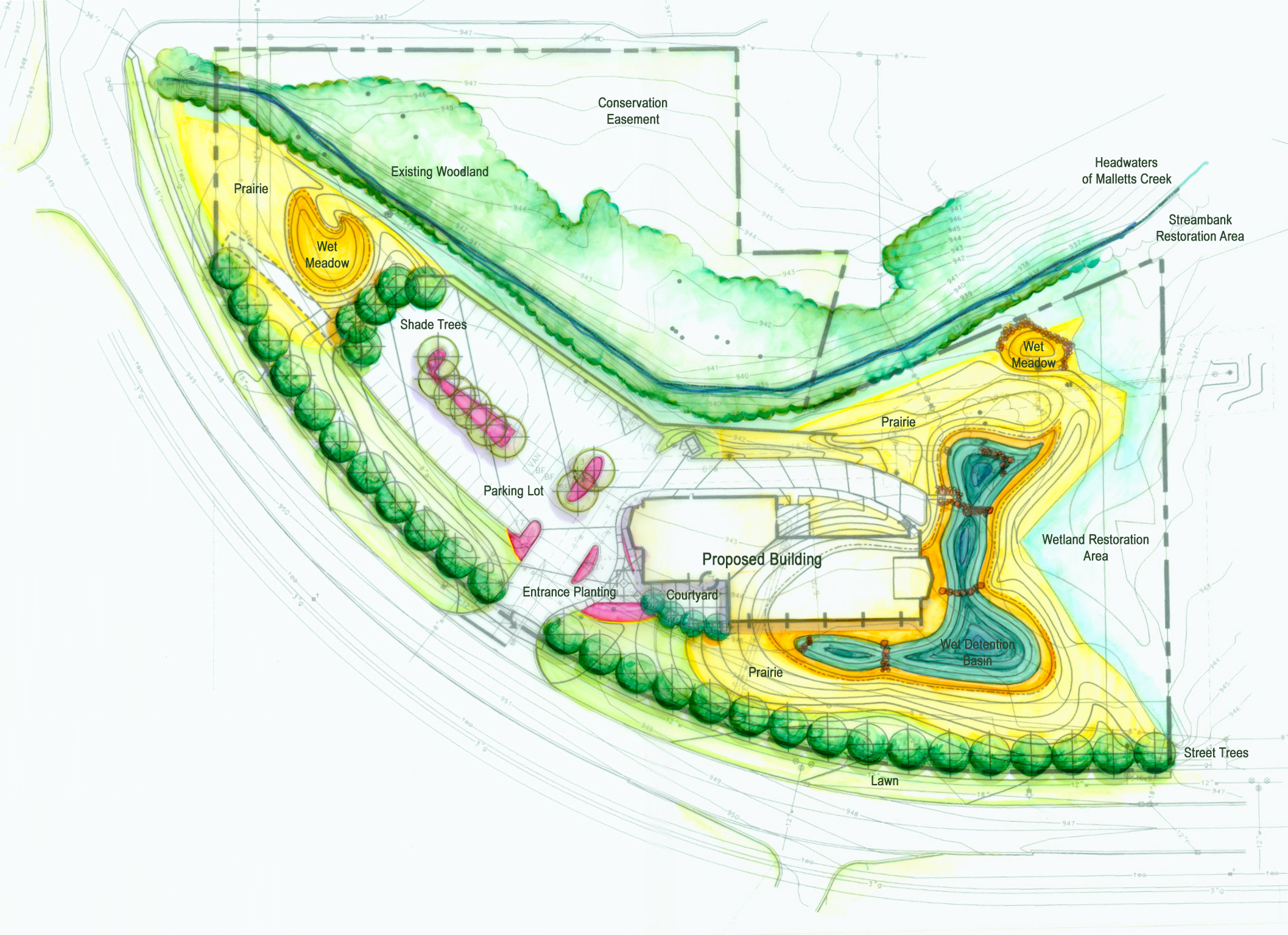 Site plan with environmental features image