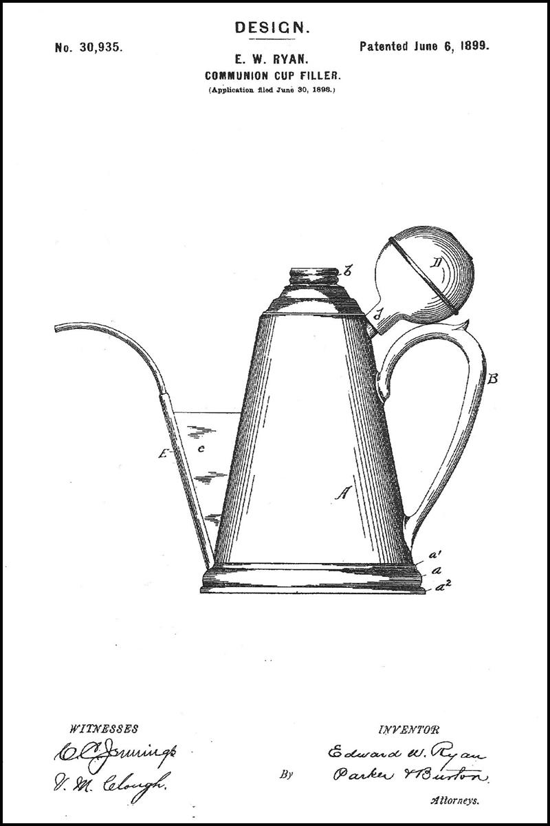 Ypsilanti Patent: Individual Communion Service & Communion Cup