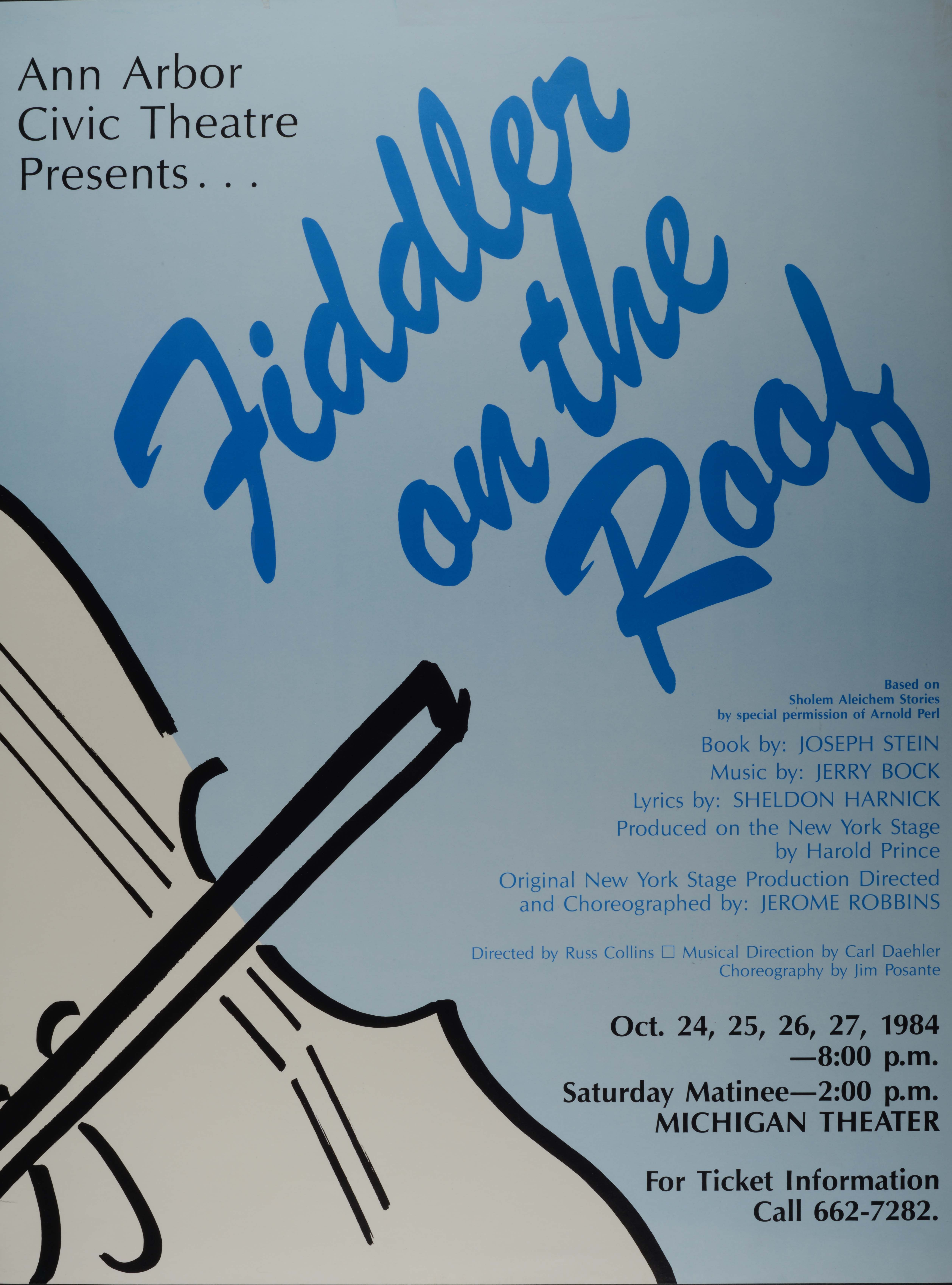 Ann Arbor Civic Theatre Poster: Fiddler on the Roof image