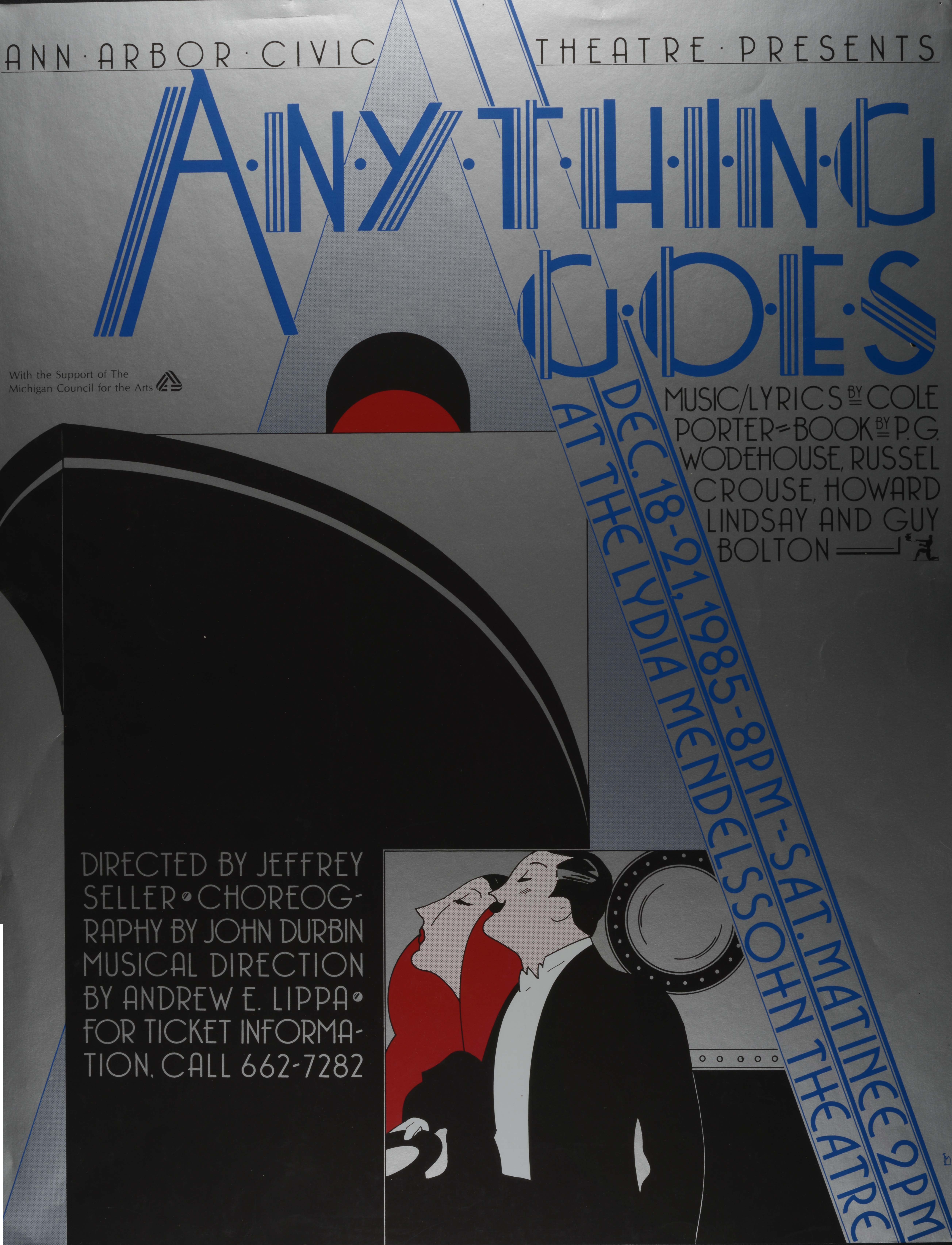 Ann Arbor Civic Theatre Poster: Anything Goes image