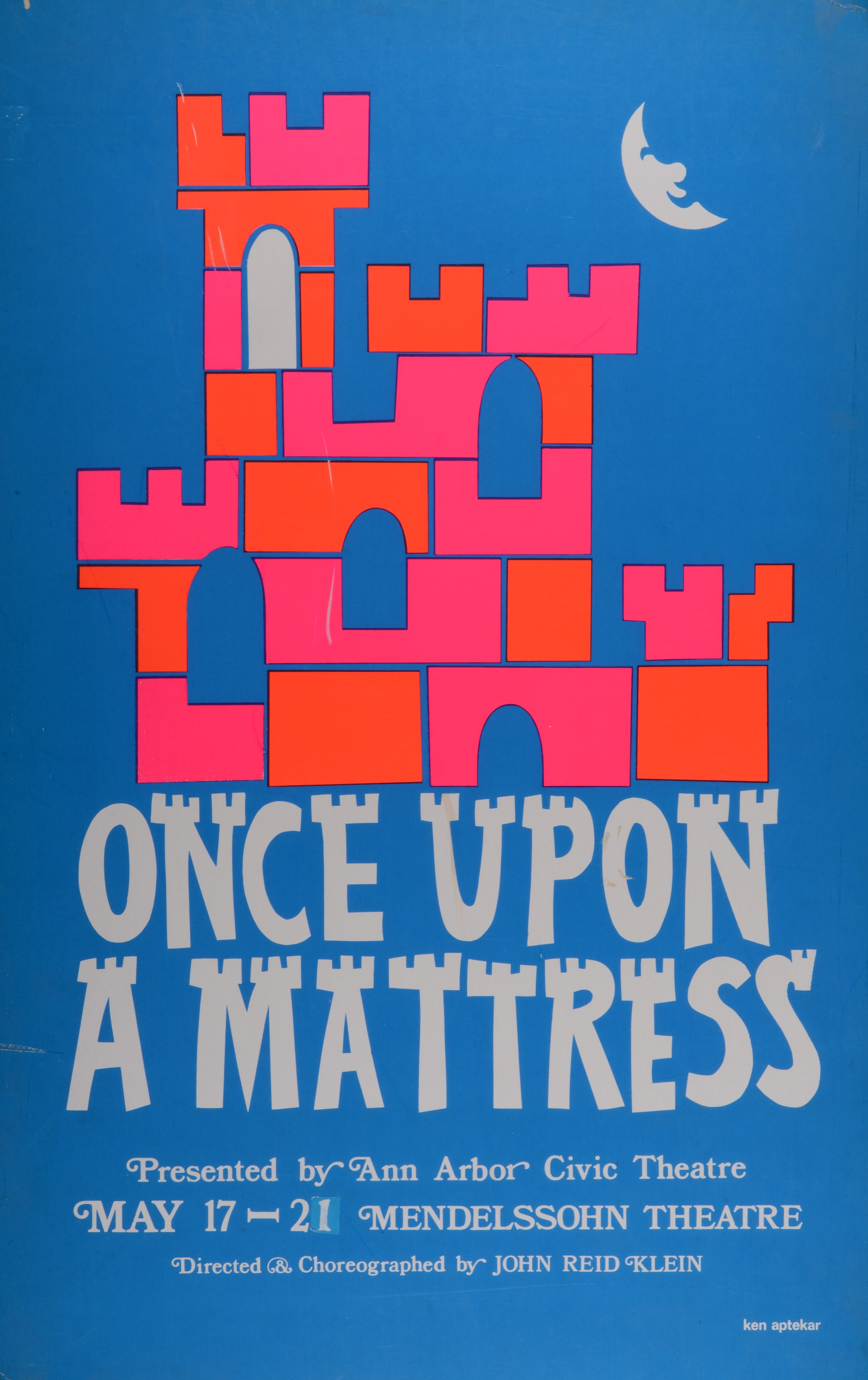 once upon a mattress poster. Ann Arbor Civic Theatre Poster: Once Upon A Mattress Poster H