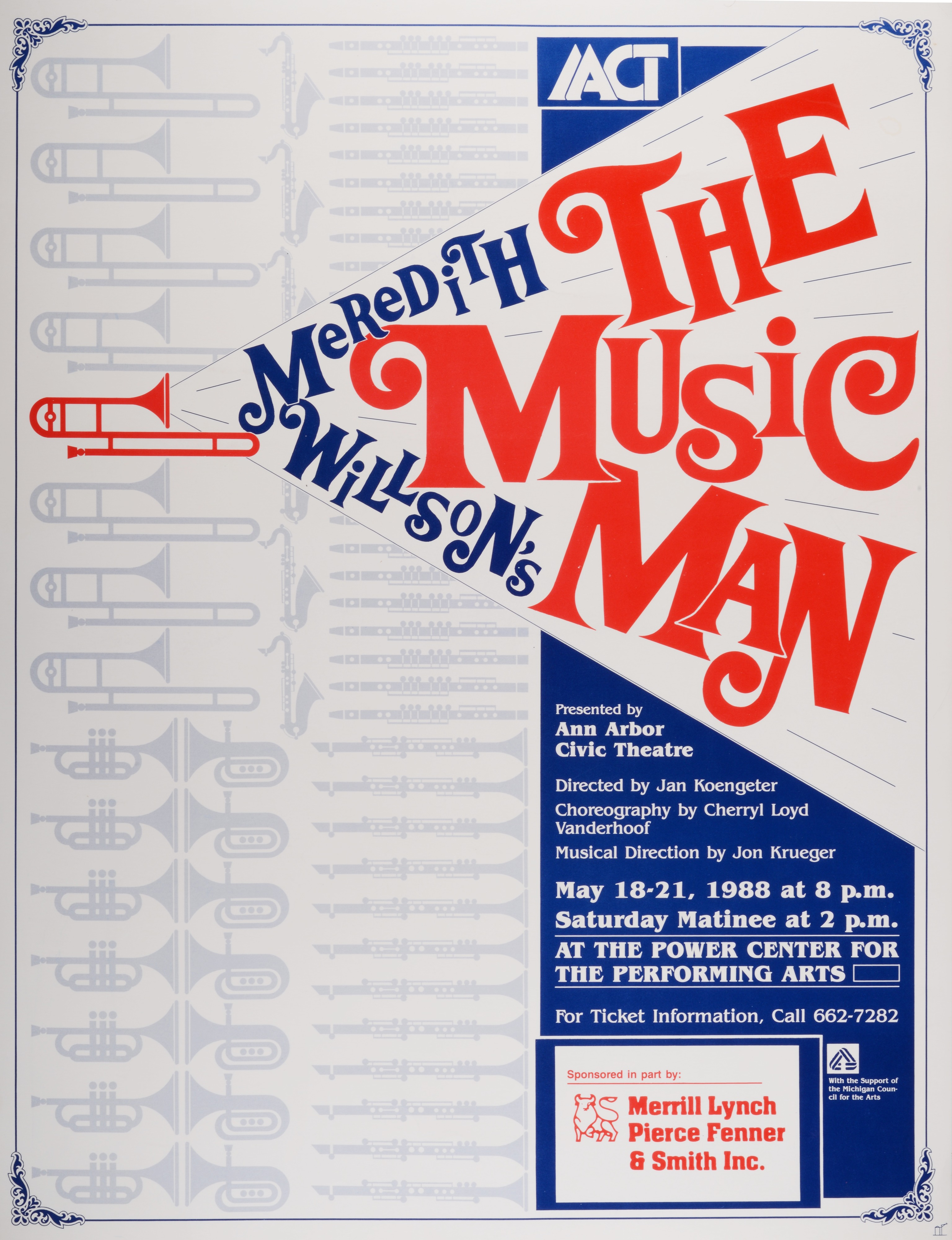 Ann Arbor Civic Theatre Poster: The Music Man image