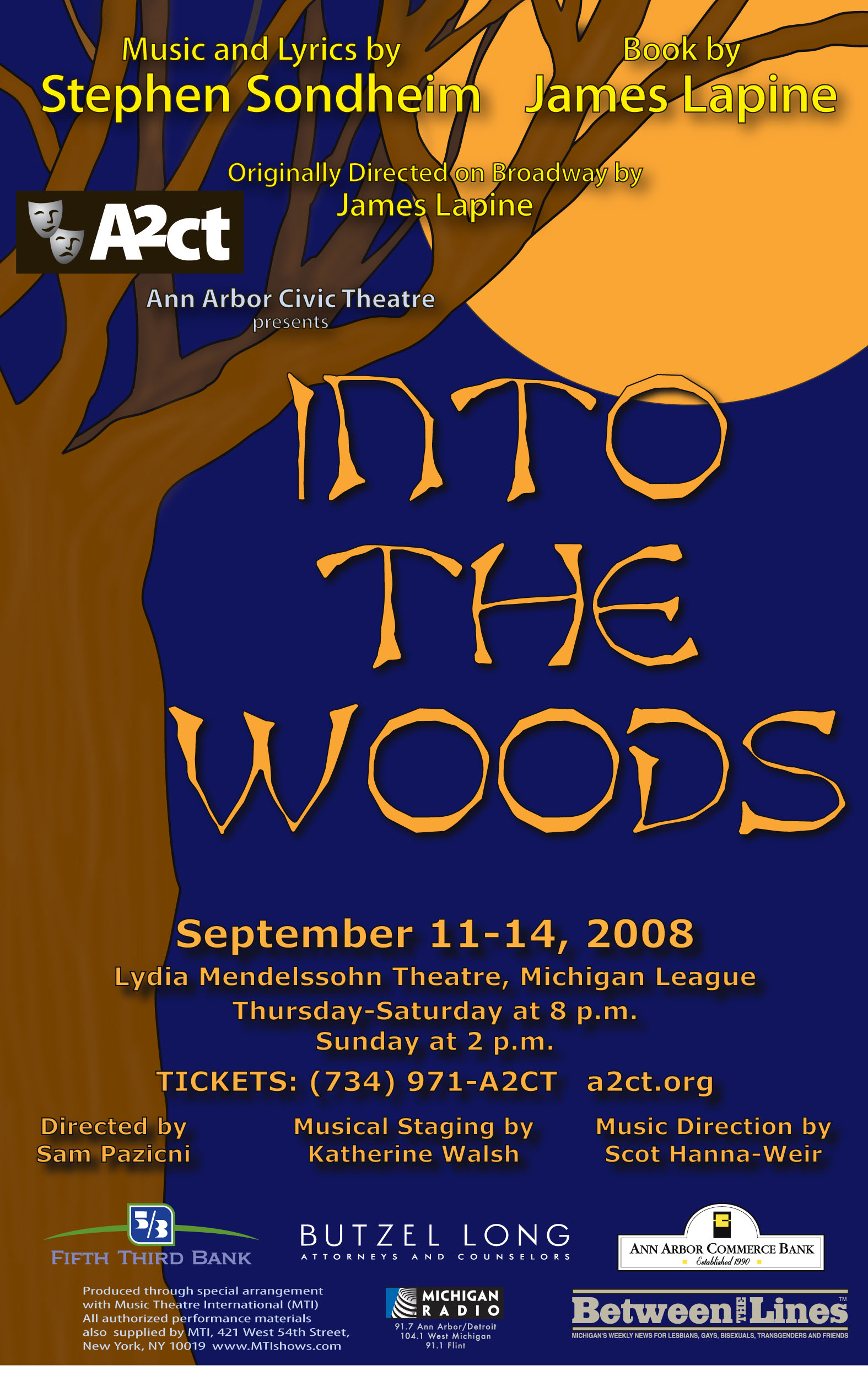 Ann Arbor Civic Theatre Poster: Into the Woods image