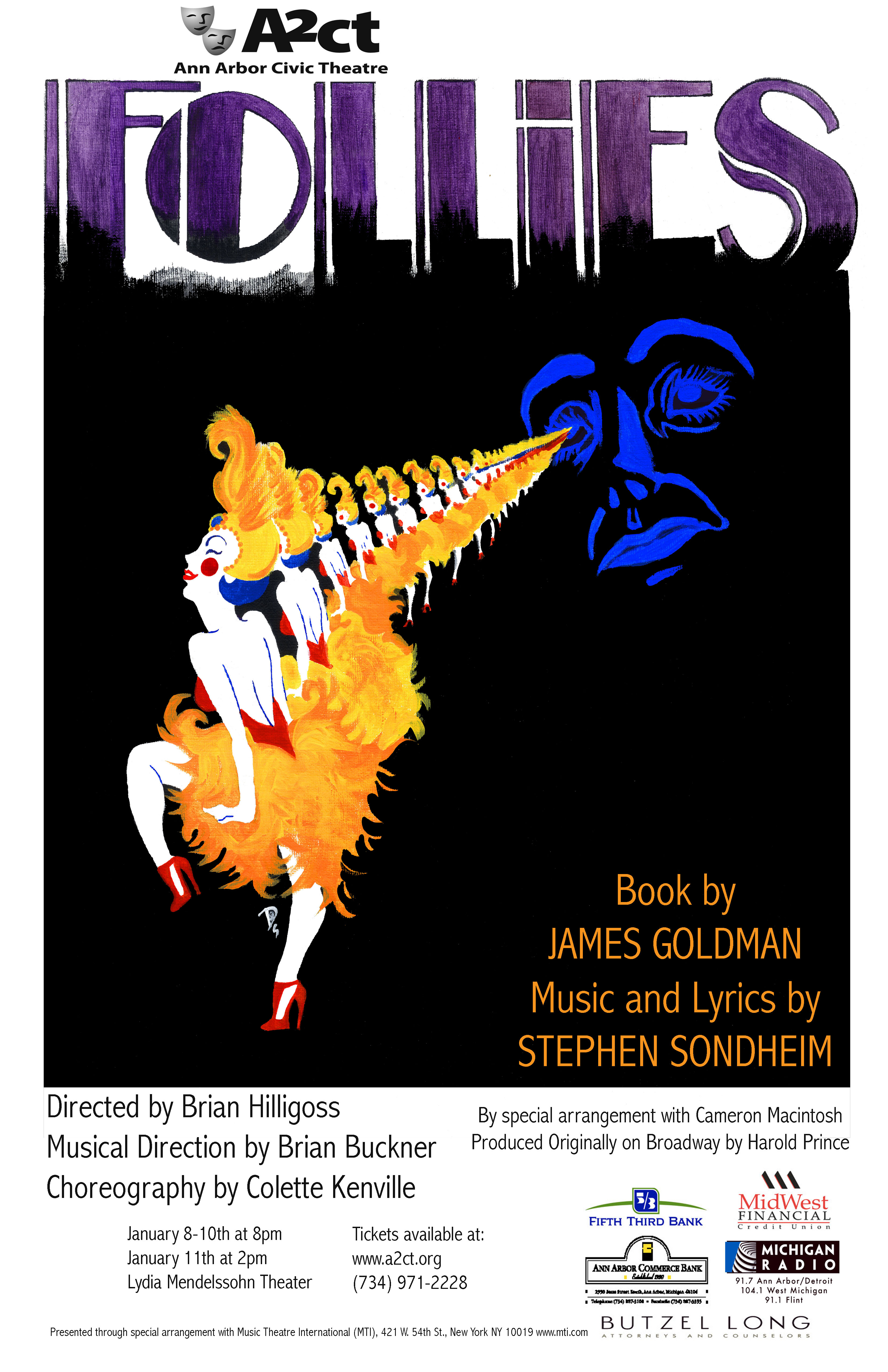 Ann Arbor Civic Theatre Poster: Follies image