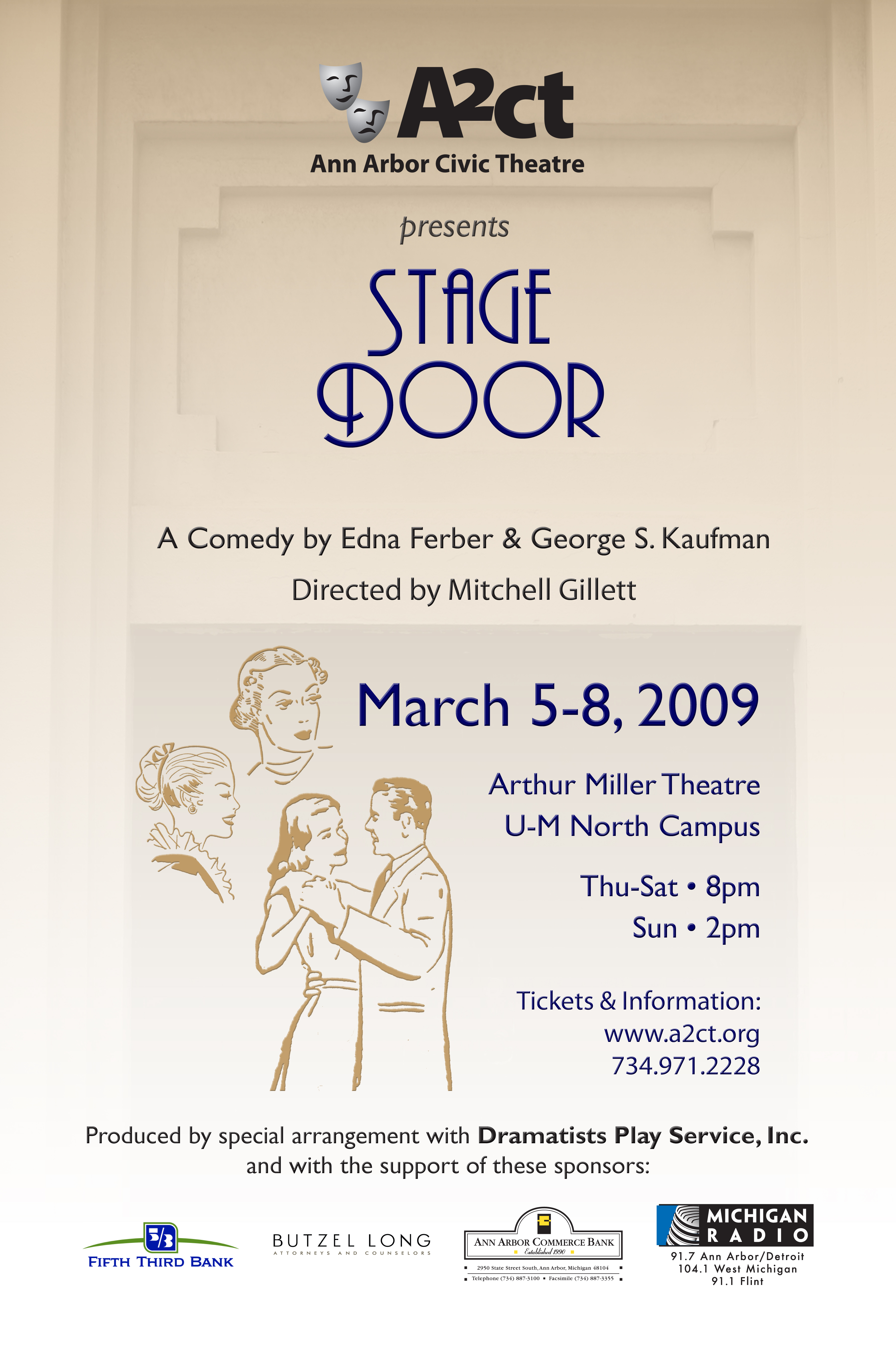 Ann Arbor Civic Theatre Poster: Stage Door image