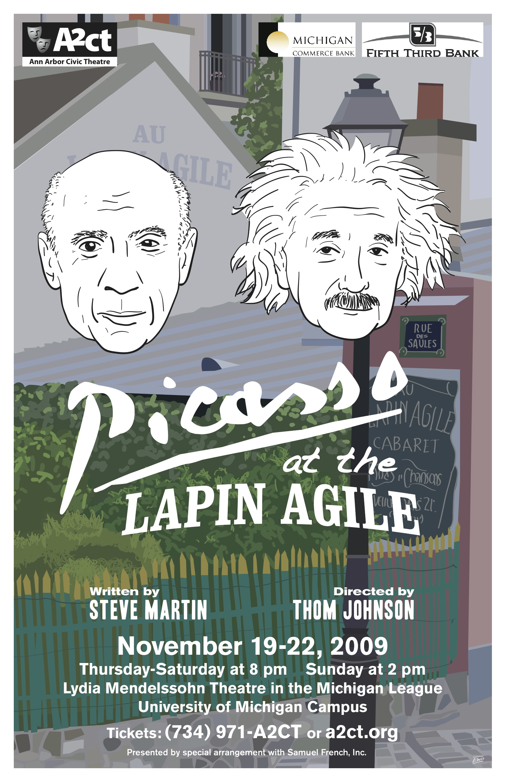 Ann Arbor Civic Theatre Poster: Picasso at the Lapin Agile image