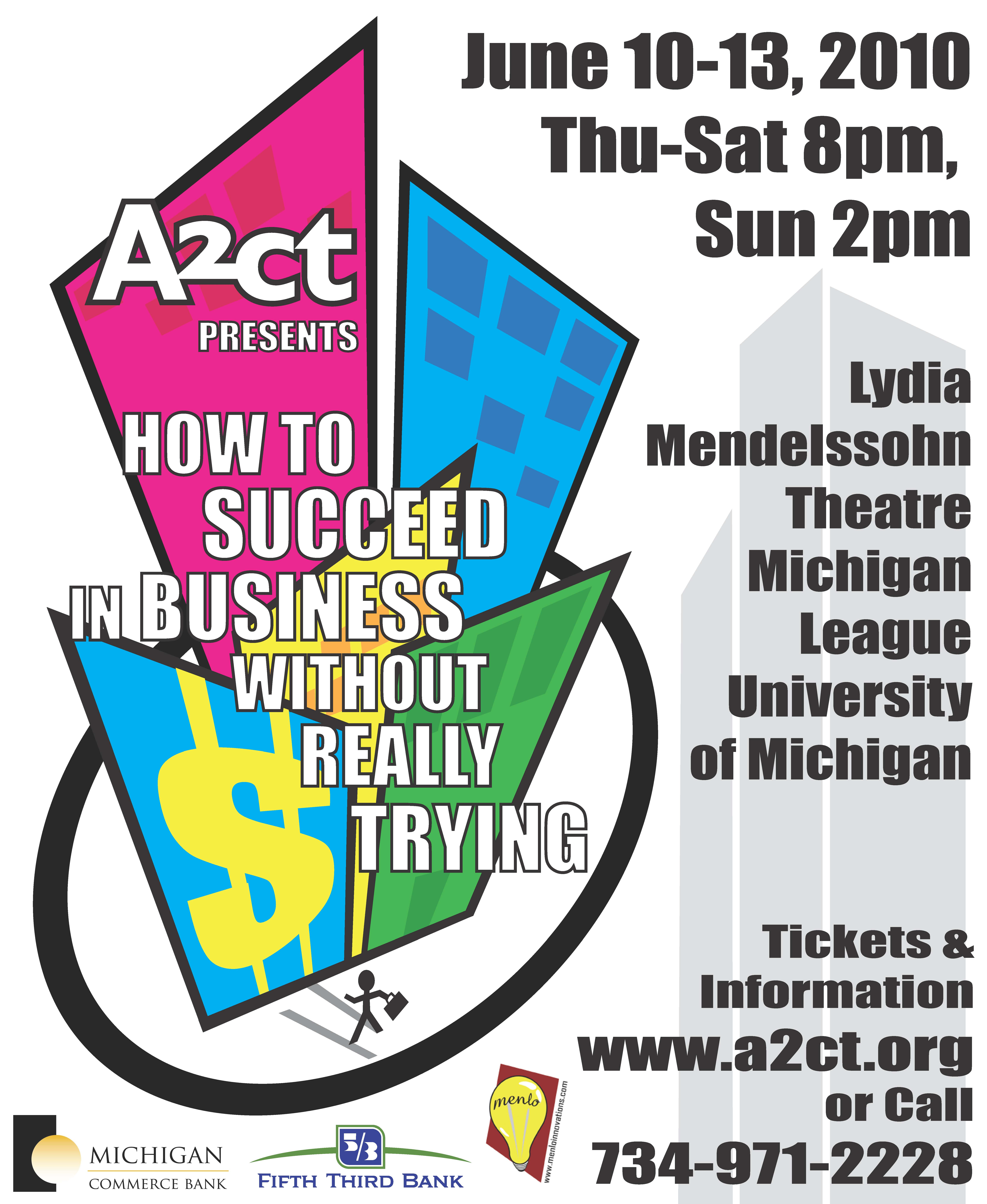 Ann Arbor Civic Theatre Poster: How to Succeed in Business Without Really Trying image