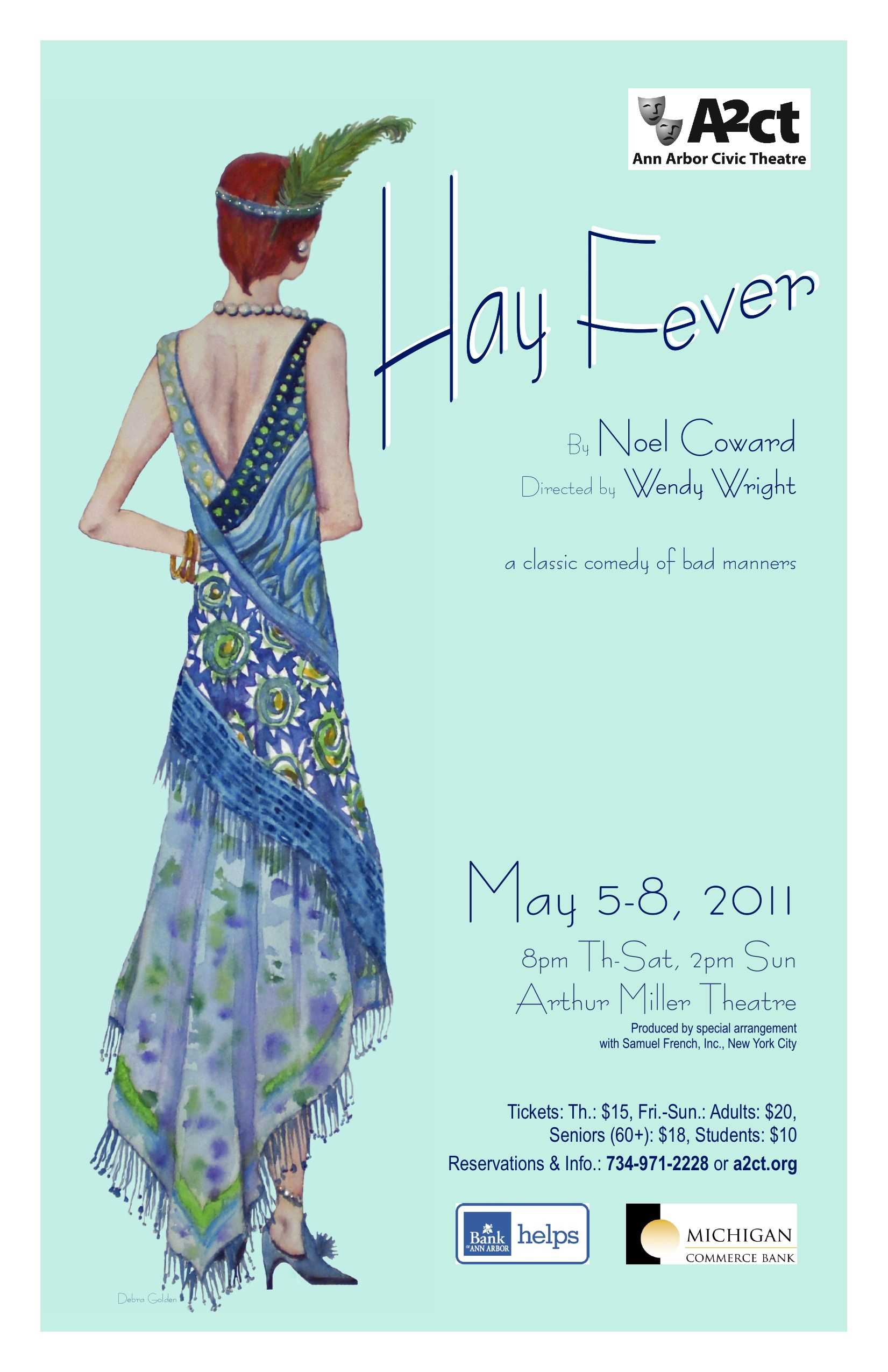 Ann Arbor Civic Theatre Poster: Hay Fever image