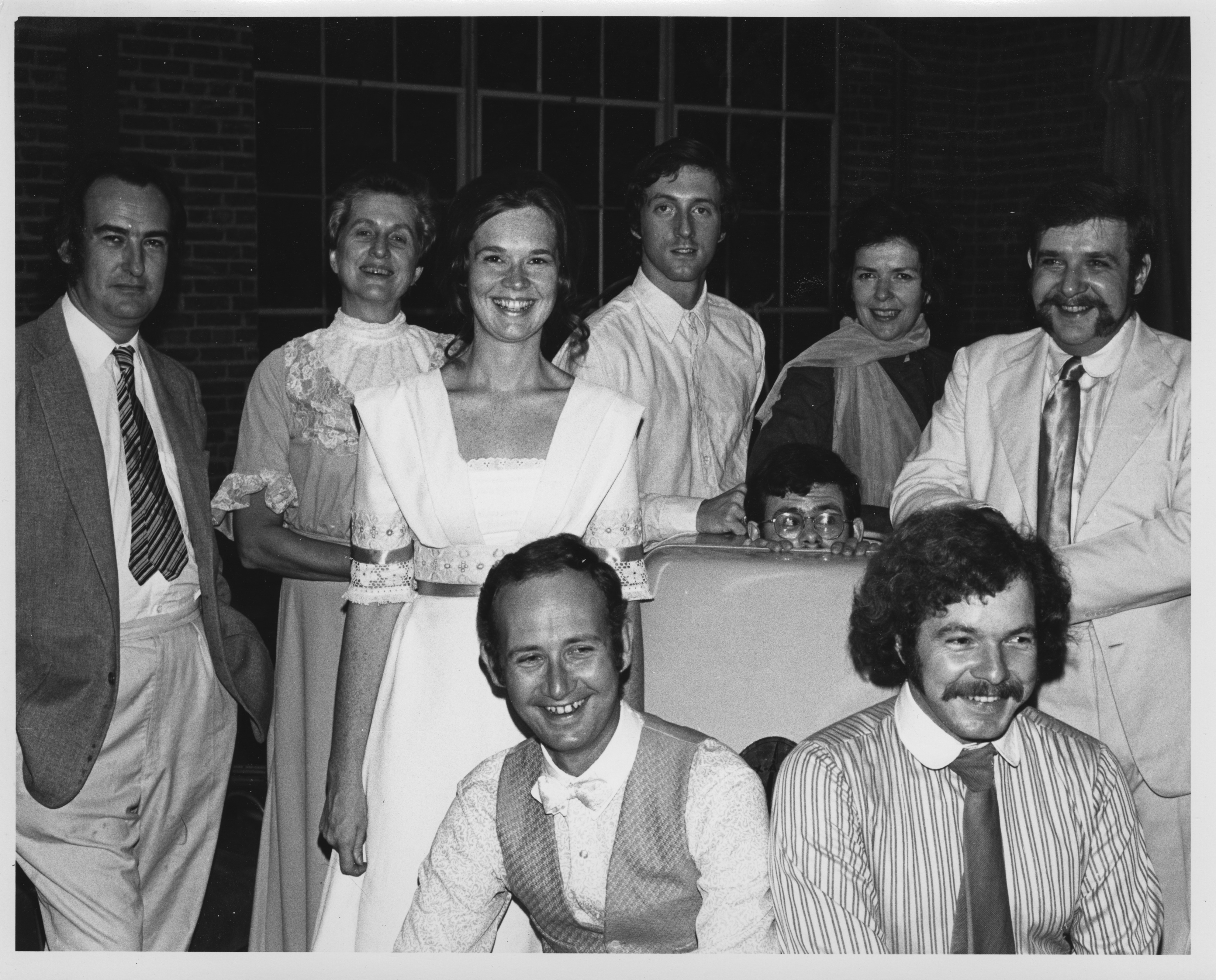 "Ann Arbor Civic Theatre: Cast in Dress Rehearsal for ""Misalliance,"" October 1971 image"