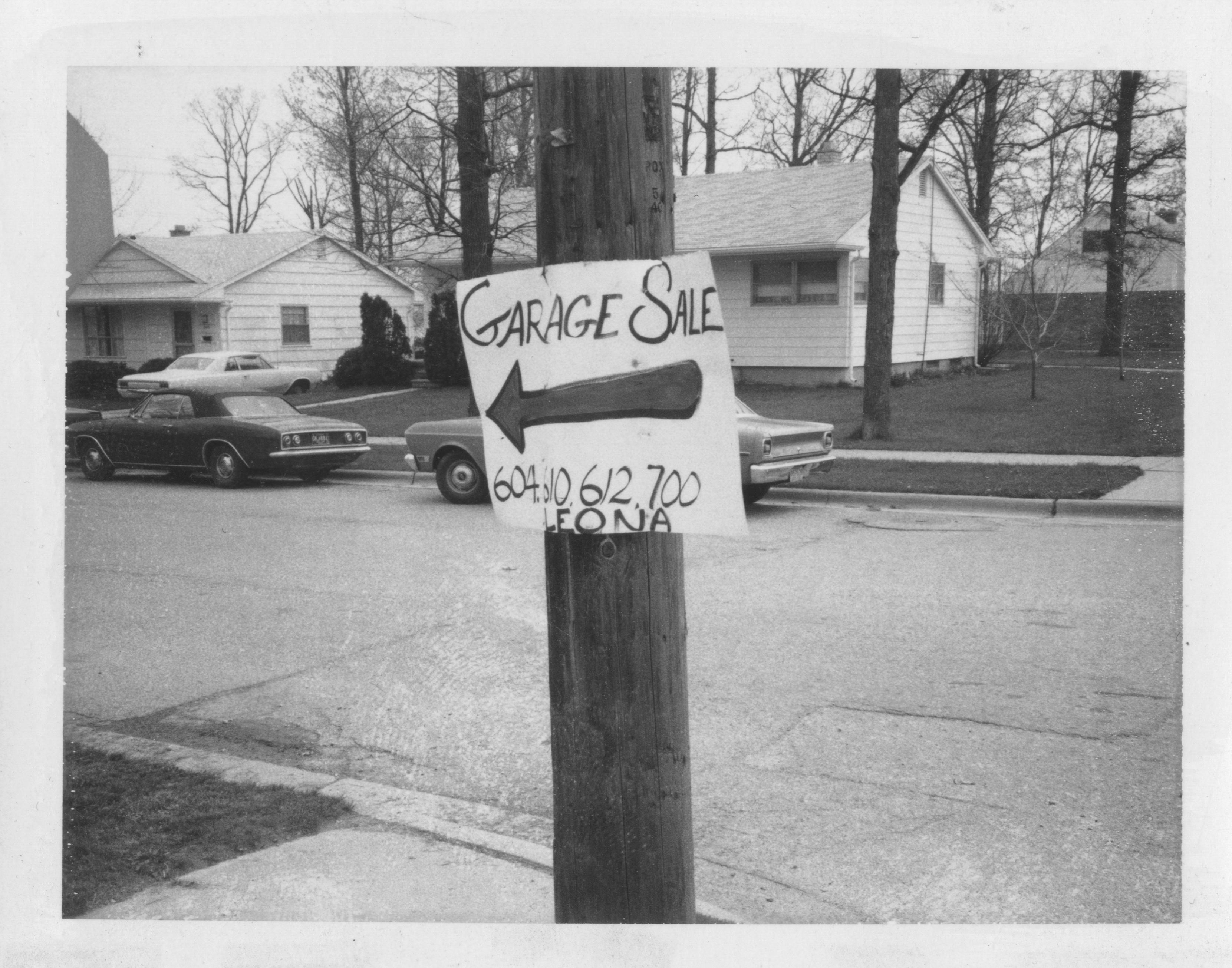 Garage Sale 1972 Ann Arbor District Library