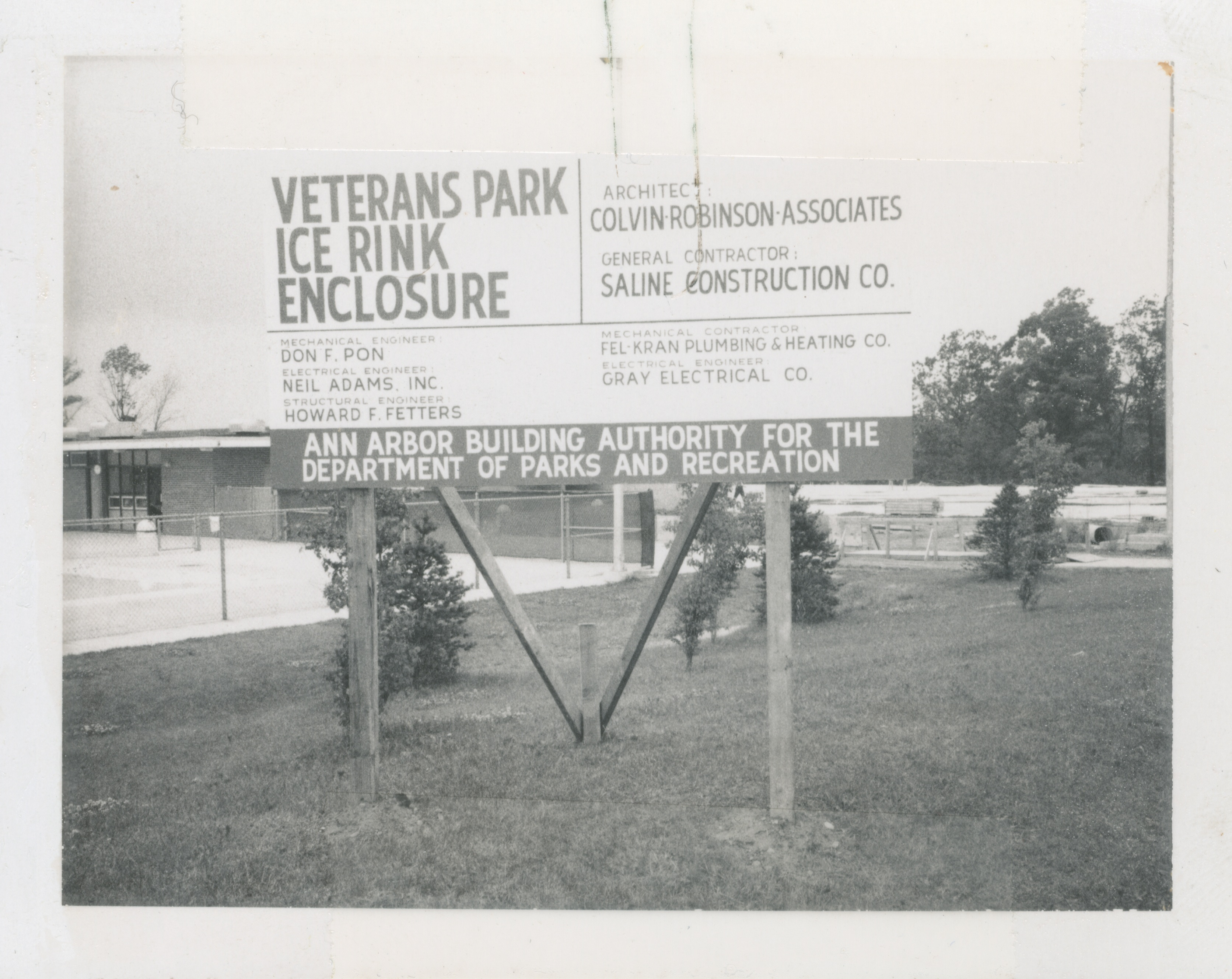 Veterans Park Ice Rink, 1972 image